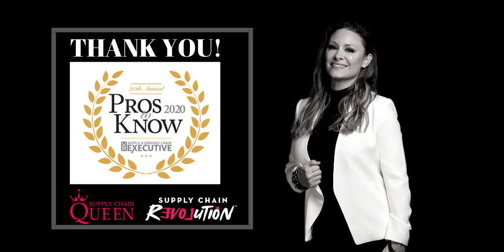 Sheri Hinish, Supply Chain Queen®, Named a 2020 Supply & Demand Chain Executive Pro to Know for Leadership in Supply Chain, Sustainability, and Innovation