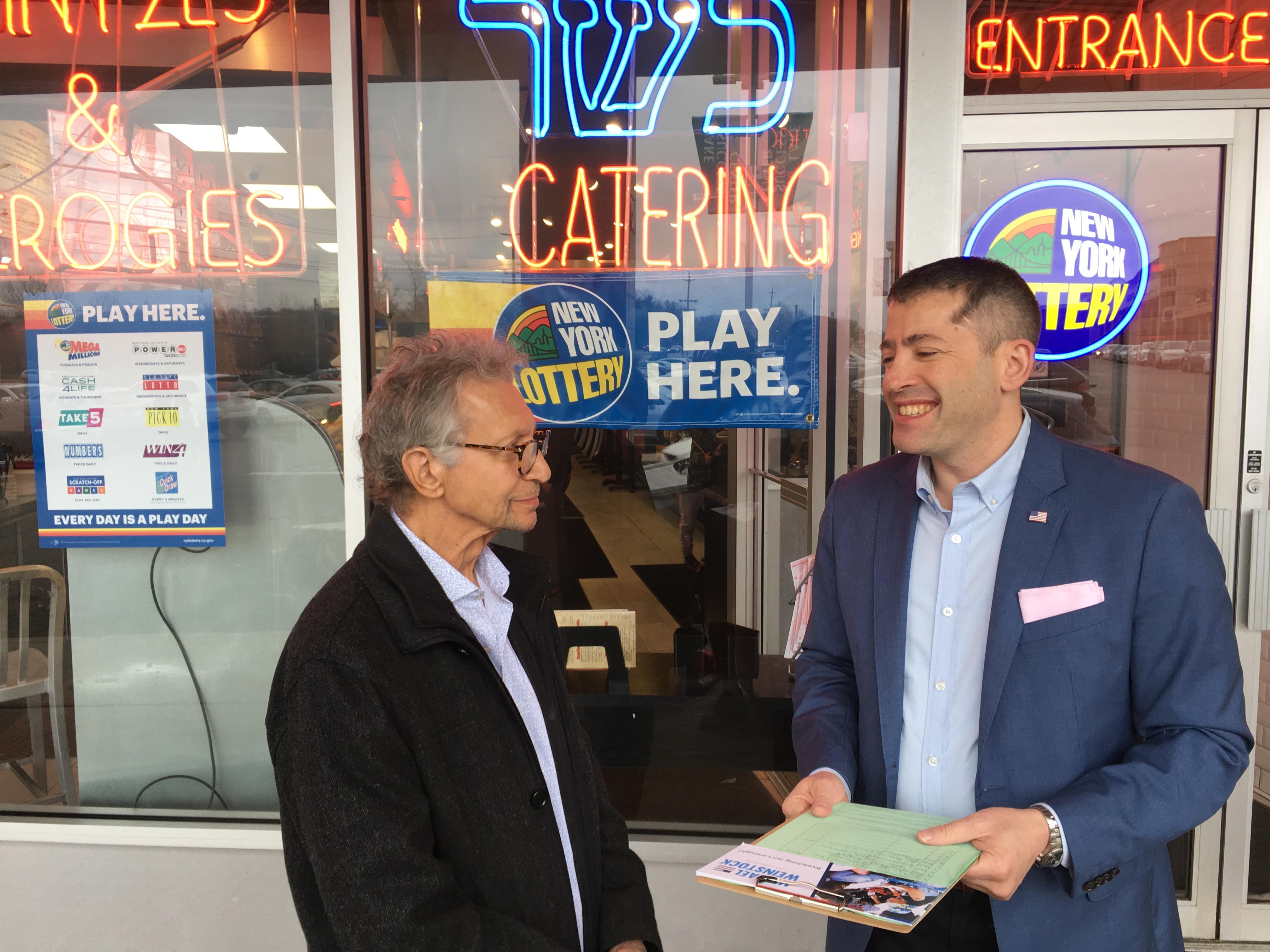 Weinstock Continues Campaigning Despite Coronavirus Challenges