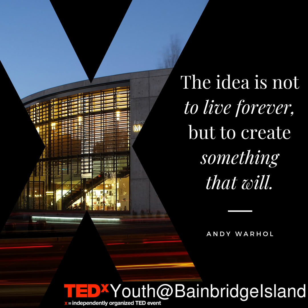 TEDxYouth@BainbridgeIsland Talks from Community Youth Now Available for Viewing on TEDx YouTube Channel