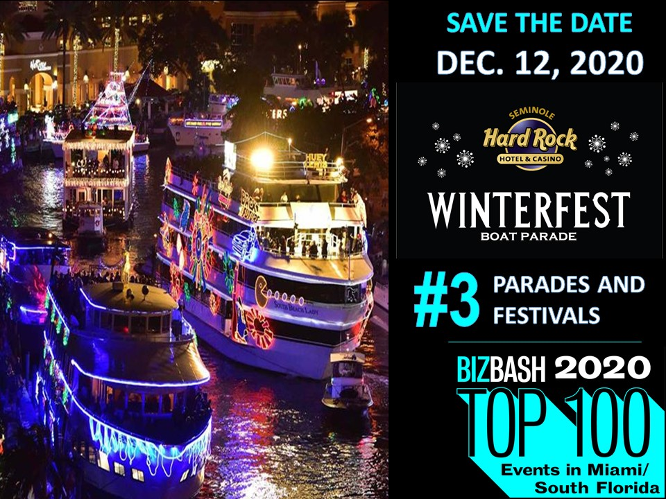 Seminole Hard Rock Winterfest Boat Parade is Named Top Three of 100 Events in South Florida by BizBash