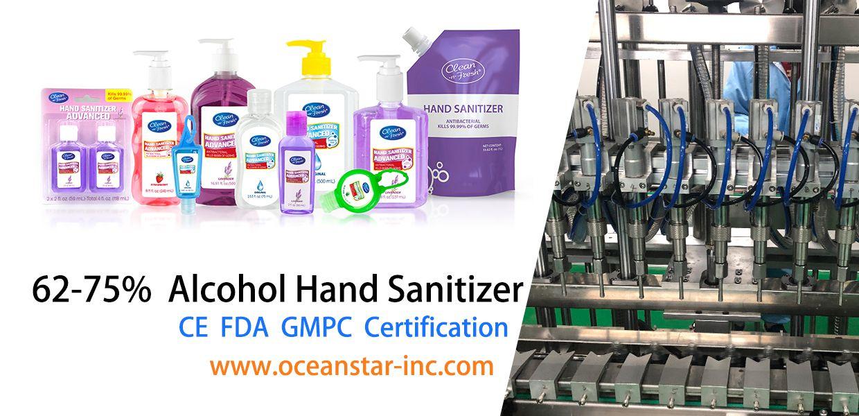 Private Label Hand Sanitizer Manufacturer Ocean Star Inc. - FDA CE Approved to Deliver 5 Million Hand Sanitizers