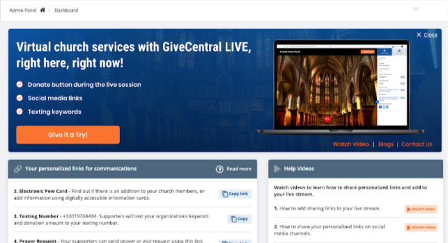GiveCentral Launches Its Live Video Software to Help Nonprofits Open Their Doors Virtually