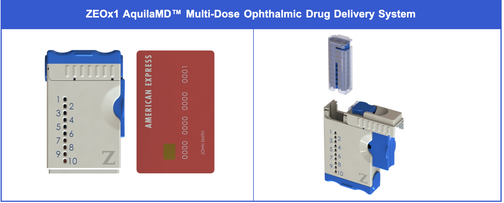 Zeteo Biomedical Introduces ZEOx1 AquilaMD™ Ophthalmic Drug Delivery System