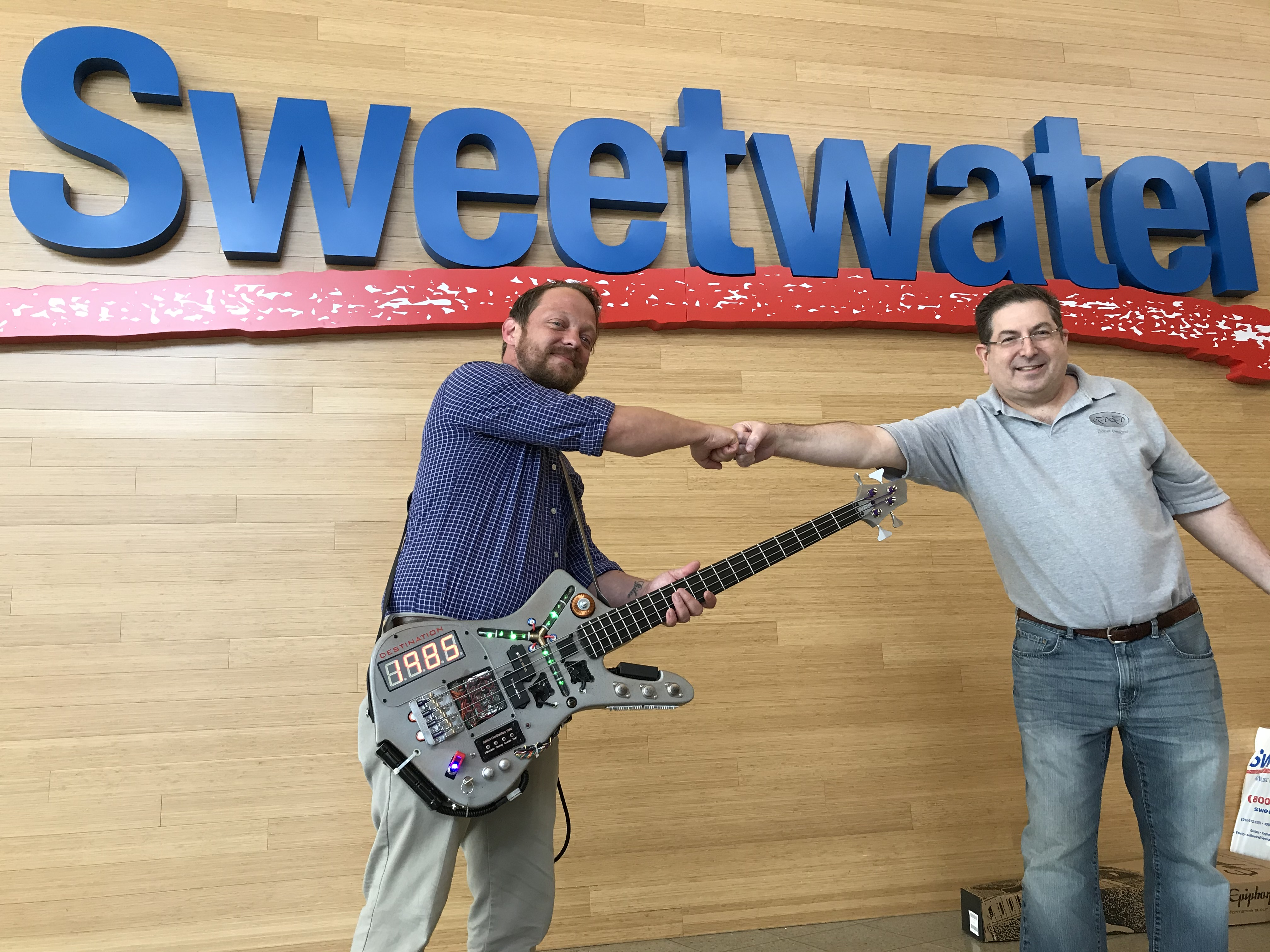 Doner Designs Completes Charity Sale of Time Machine Bass Guitar