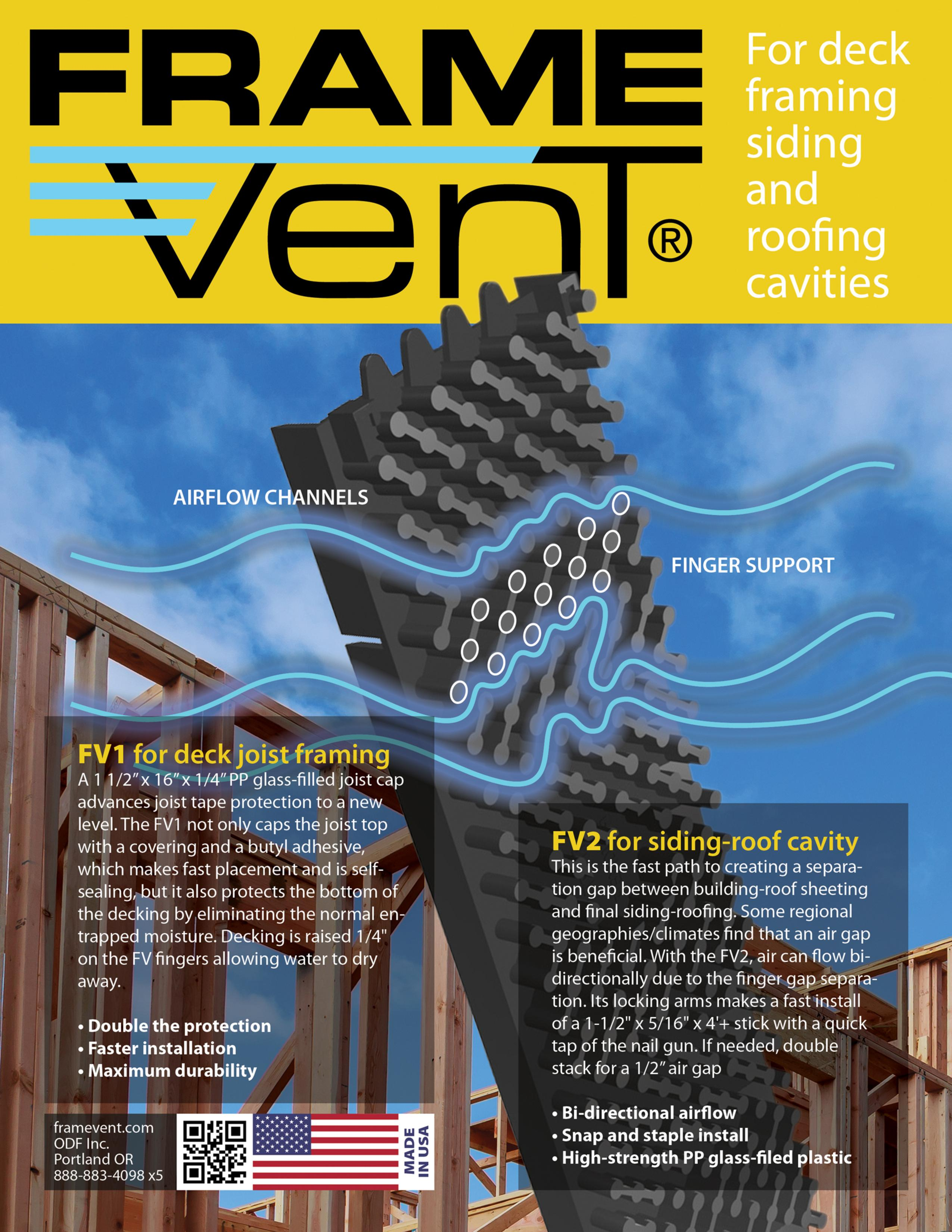 FrameVent® – Product Sets a New Standard for Deck Joist Moisture Barriers, Outmatching Currently Used Products in the Decking Construction Industry