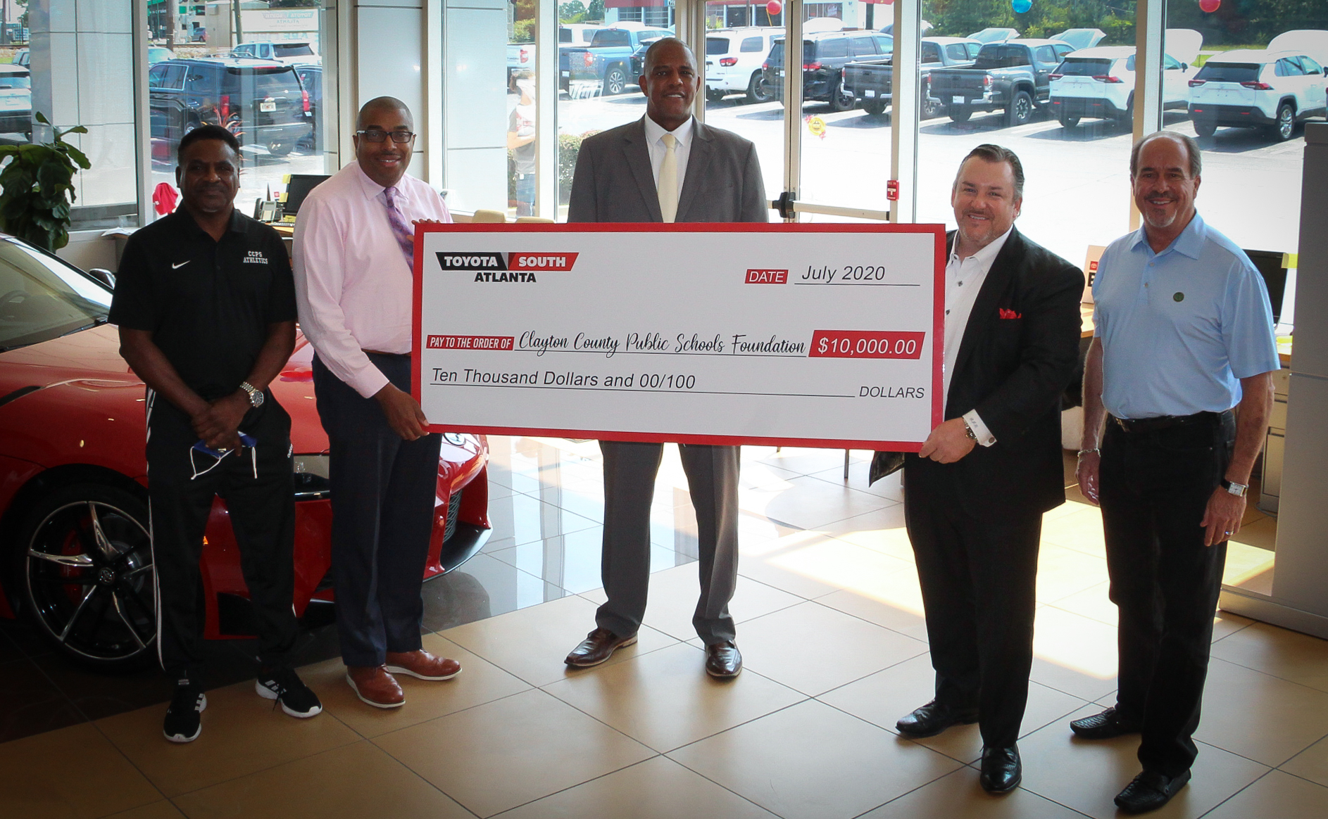 Local Owned Business Toyota South Atlanta Donates $10,000 to the Clayton County Public School Foundation