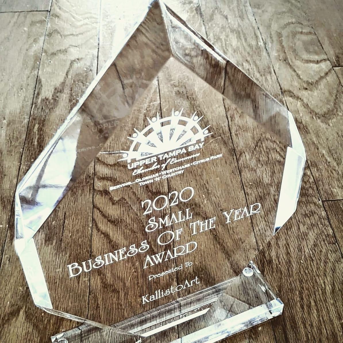 KallistoArt Honored with Upper Tampa Bay Chamber of Commerce 2020 Small Business of the Year Award