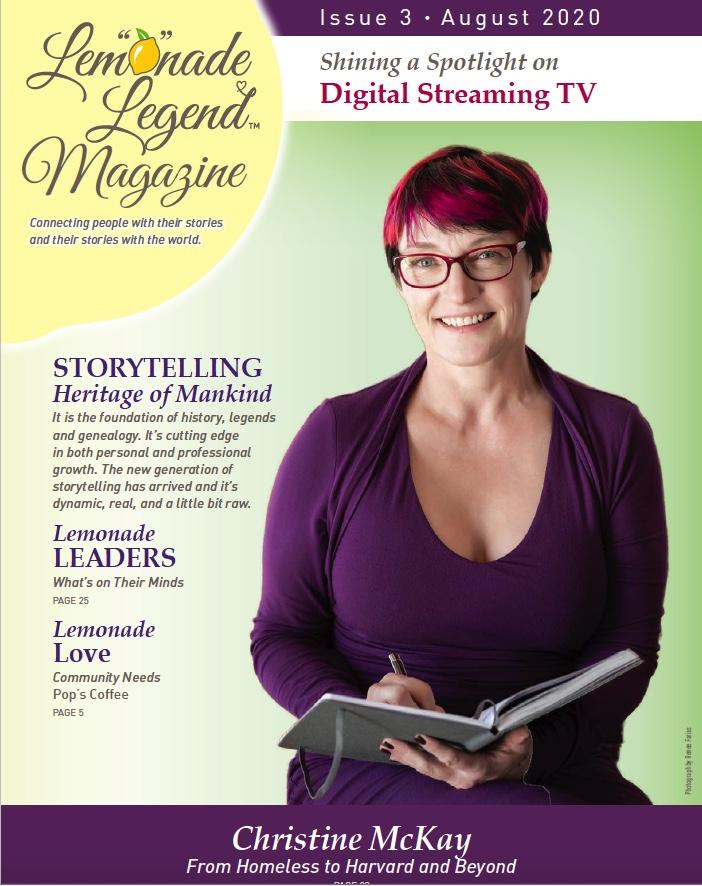 Christine McKay Featured in August 2020 Edition of Lemonade Legend Magazine