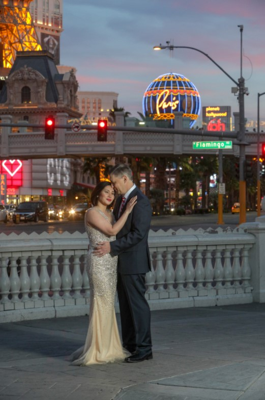 Las Vegas Photographer Christian Purdie Guides Tourists Through Las Vegas Boulevard for Fashion Portrait Photography Sessions
