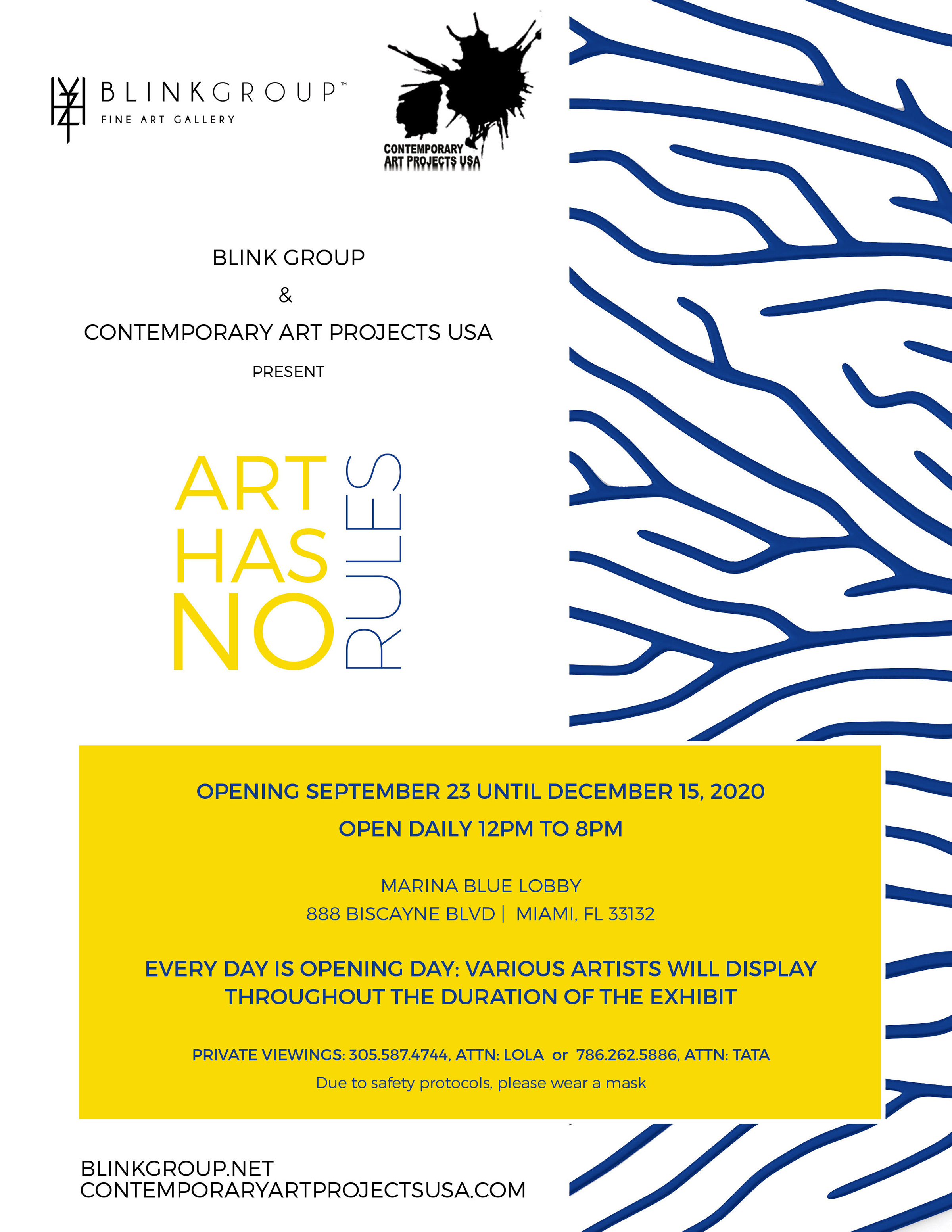 Art Has No Rules Presented by Blink Group Fine Gallery and Contemporary Art Projects USA