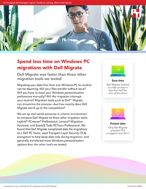 Dell Migrate Completed Data Migrations to a Windows PC Faster Than Three Other Migration Tools, New Study Finds