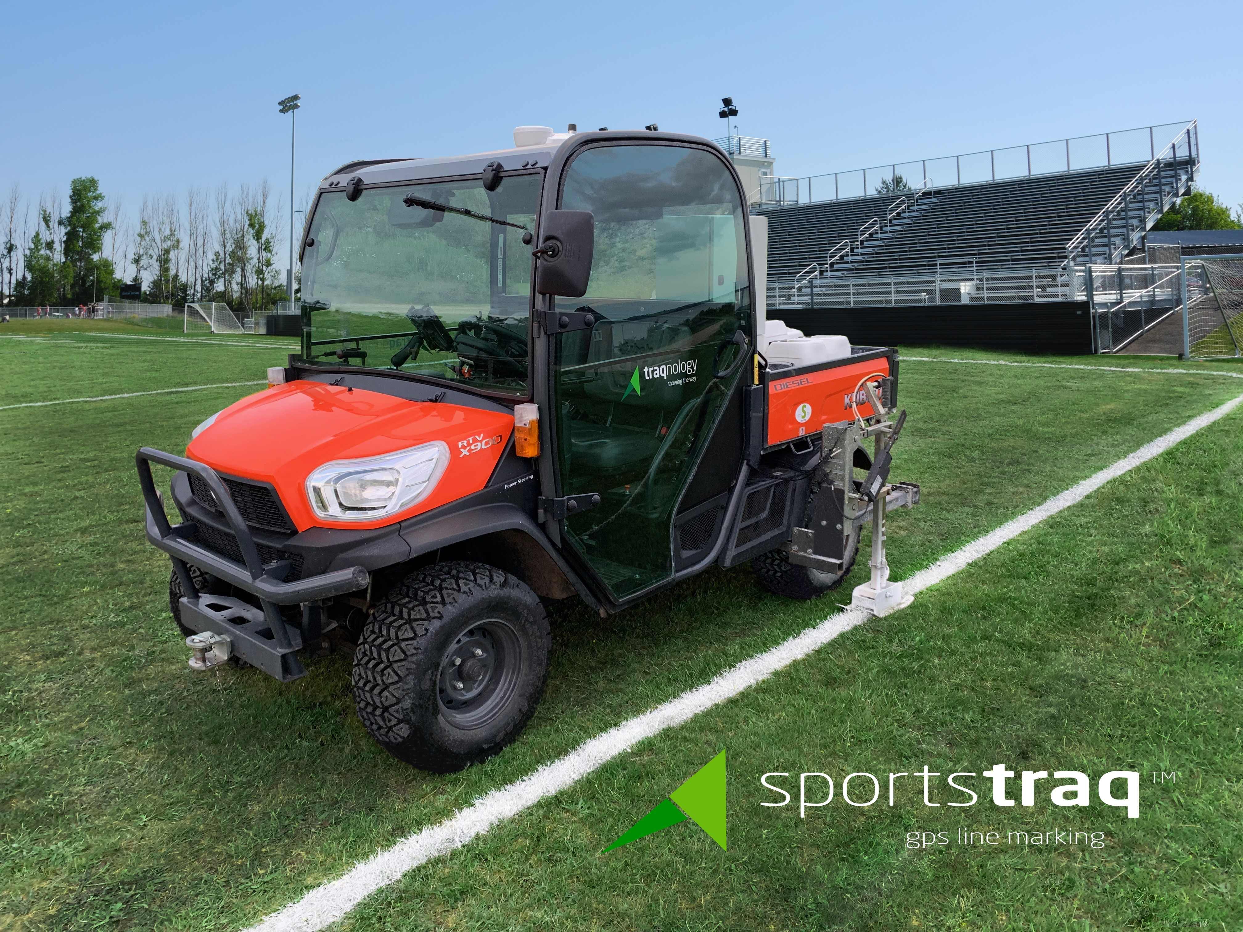 SportsTraq GPS Auto Steering & Line Marking for Athletic Fields
