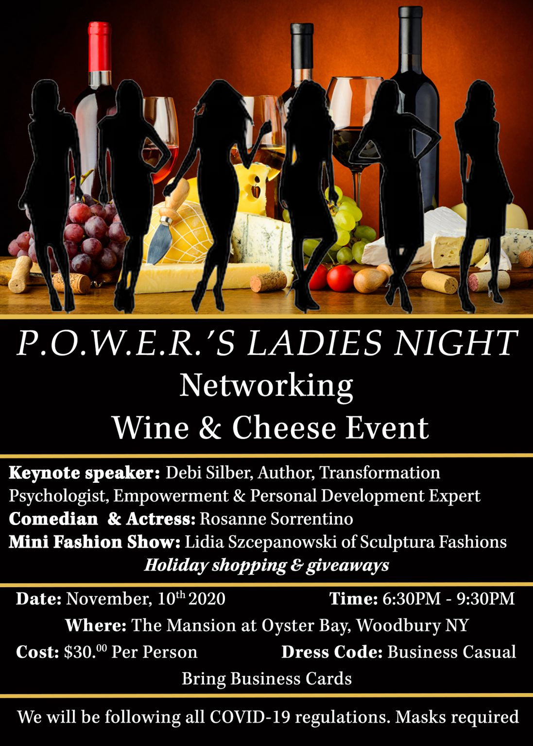 P.O.W.E.R. Announces Their Ladies Night Wine and Cheese Networking Event Hosted by Founder, Tonia DeCosimo