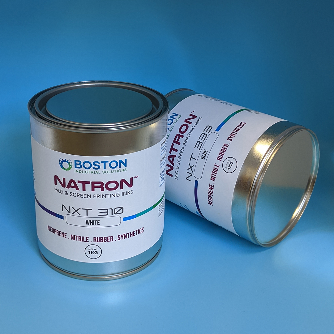 New Natron NxT Series Screen and Pad Printing Ink for Neoprene, Nitrile, EVA and EPDM Rubber from Boston Industrial Solutions, Inc.