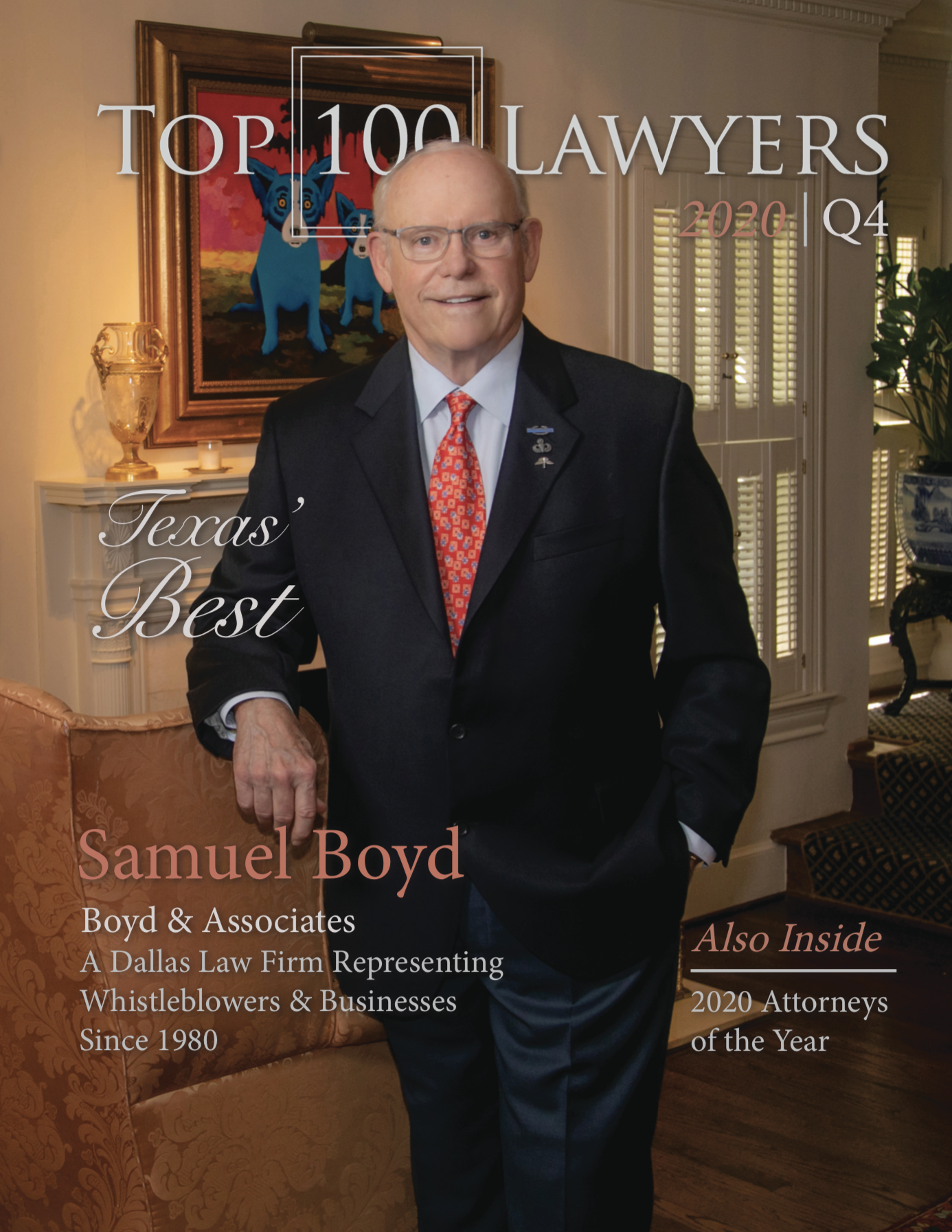 Samuel L. Boyd is Honored by the Top 100 Registry as the 2020 Attorney of the Year, and is Due to be Featured on the Front Cover of  Top 100 Lawyers Magazine's Q4 Edition