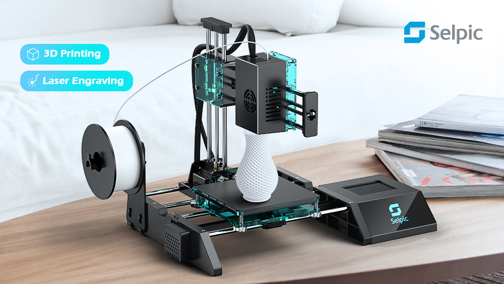 Selpic Star A - the World's Most Cost-Effective Multifunctional 3D Printer Live on Kickstarter Now