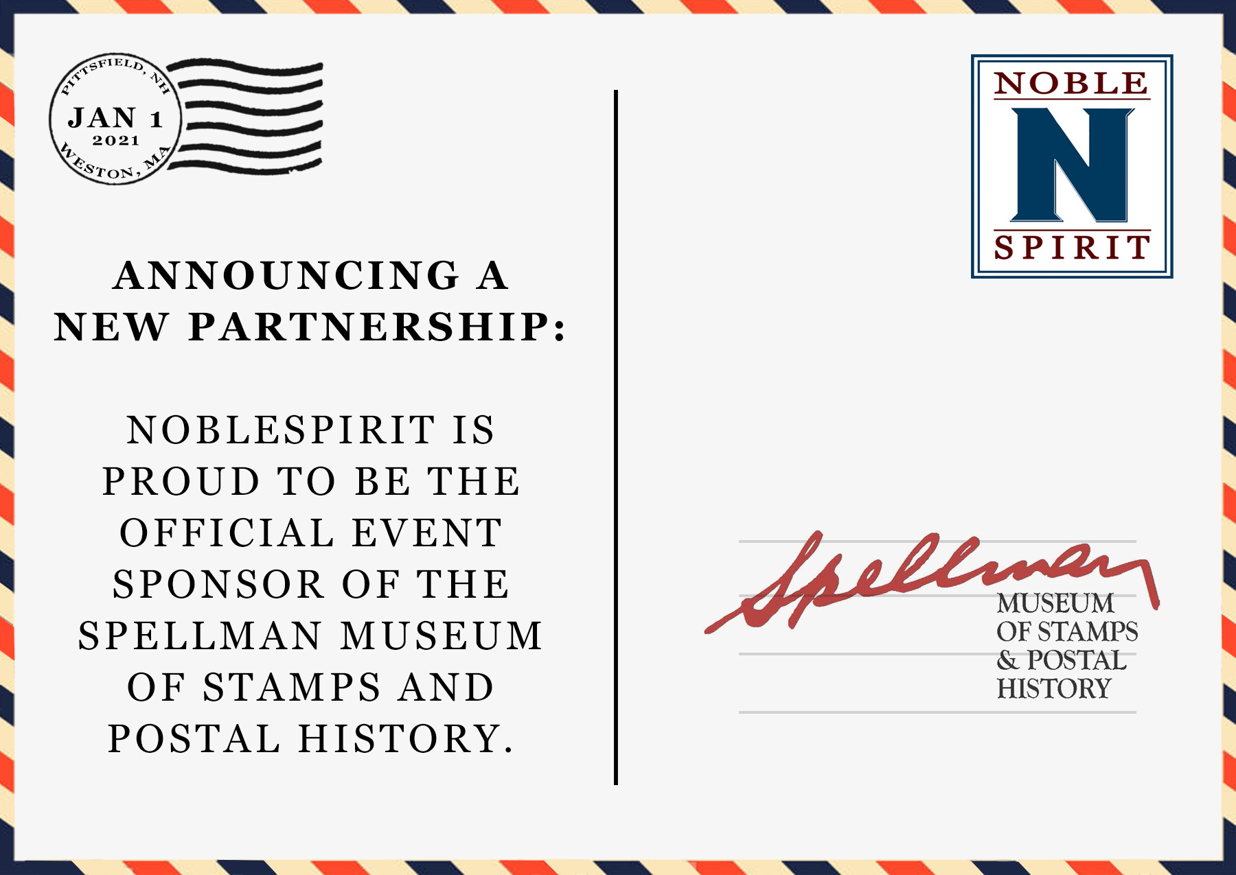 NobleSpirit Partners with Spellman Museum of Stamps and Postal History