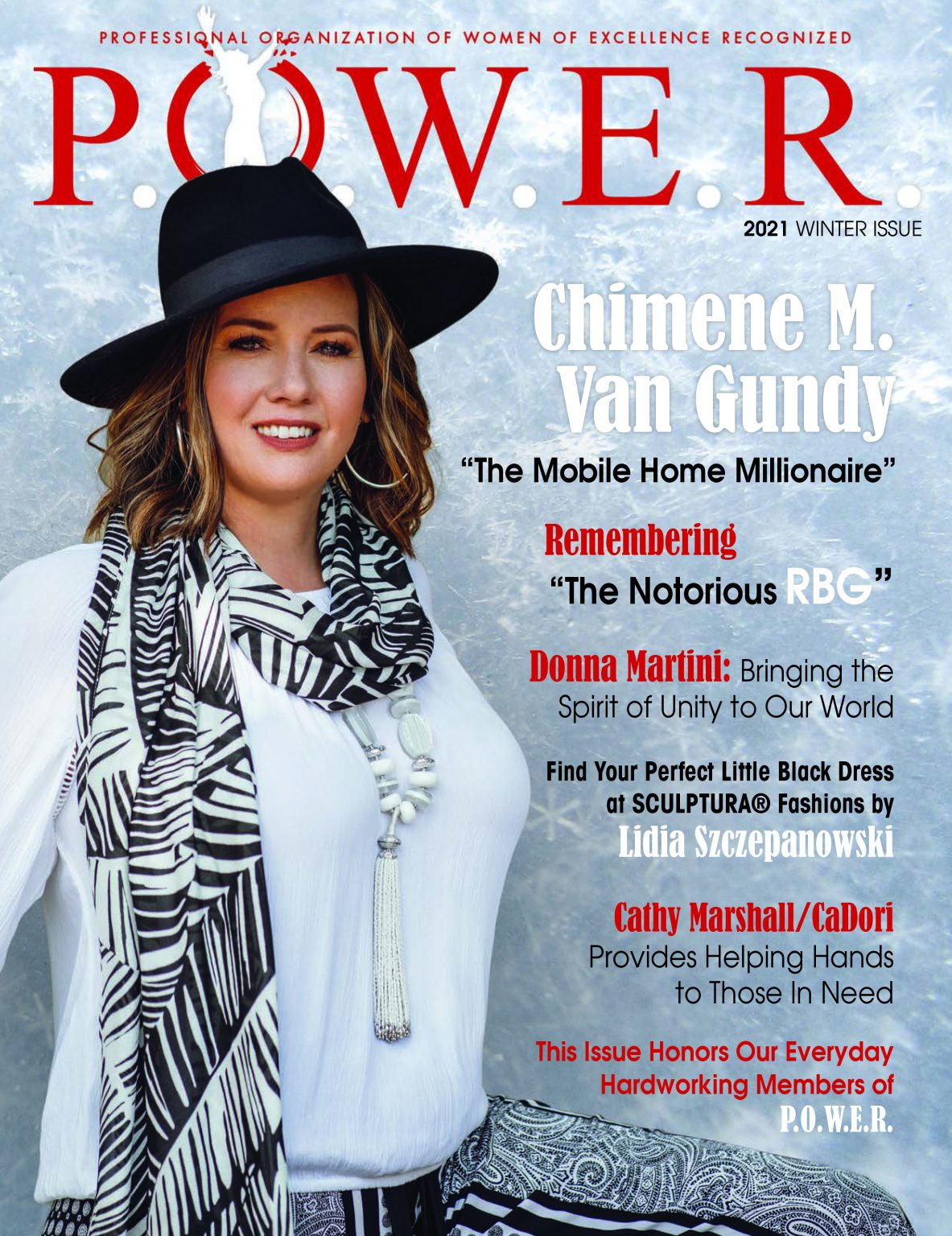 Chimene M. Van Gundy Showcased on the Cover of the Winter 2021 Issue of P.O.W.E.R. Magazine