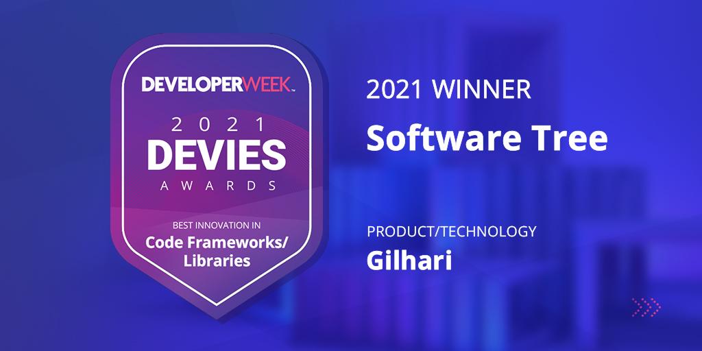 Software Tree Wins Prestigious 2021 DEVIES Award for Its Gilhari Microservice Framework