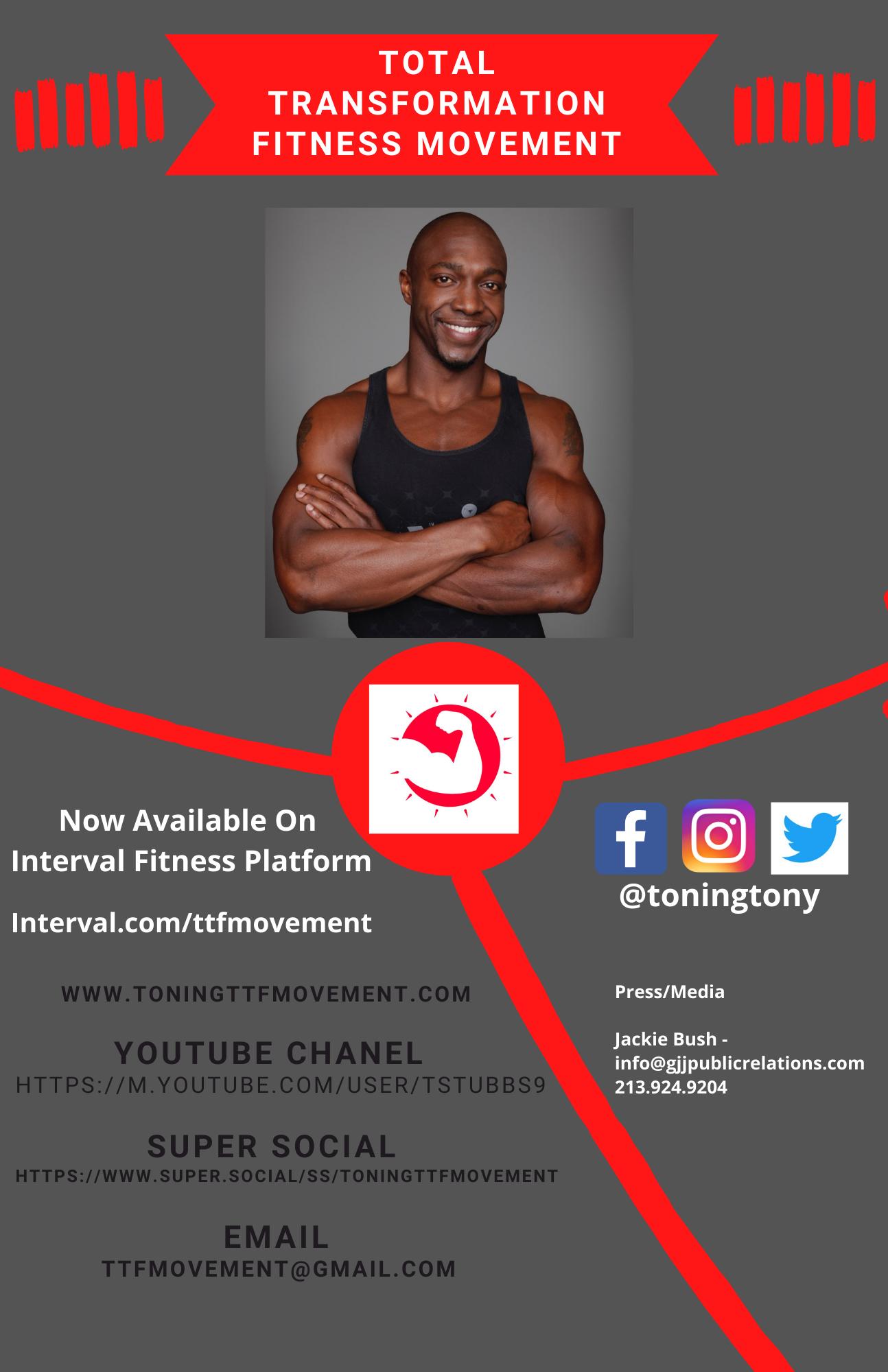"Fitness Expert & Cast Member of ""Ready to Love"" (Season 3) Tony Stubbs Announces Strategic Partnership with Interval Online Fitness Platform"
