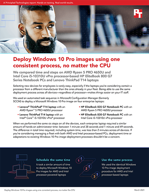 Principled Technologies Releases Study on OS Deployment in a Mixed-CPU Windows 10 Pro Environment
