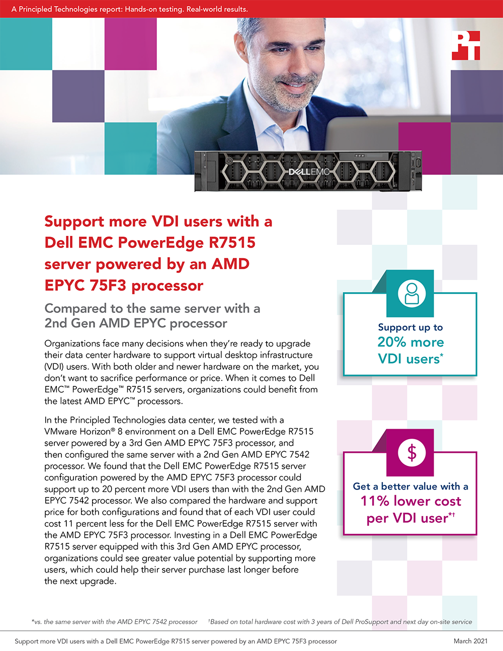 Principled Technologies Releases VDI Study on a Dell EMC PowerEdge R7515 Server with Two Generations of AMD EPYC Processors