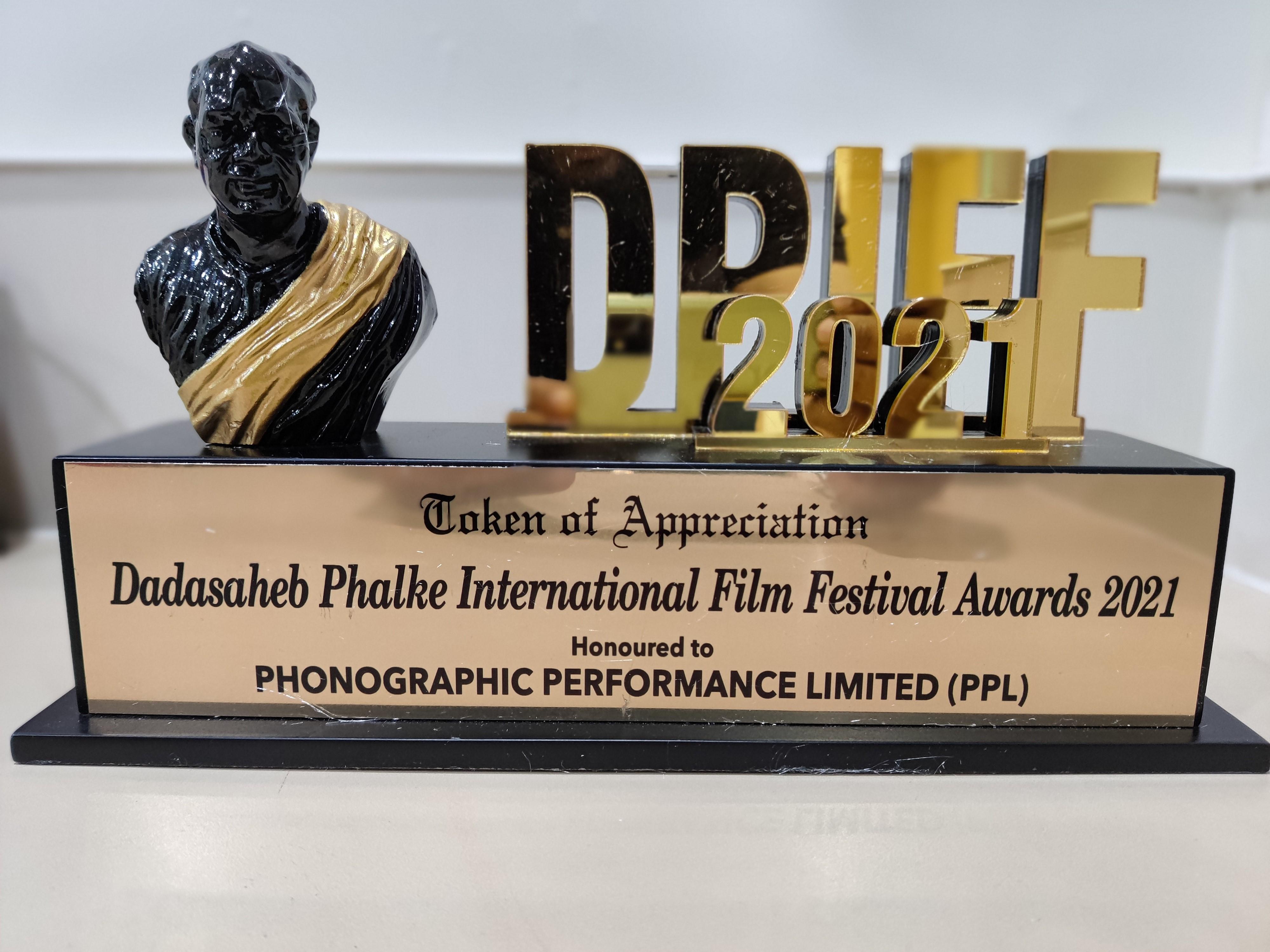 PPL India Honoured at the Dadasaheb Phalke International Film Festival Awards 2021