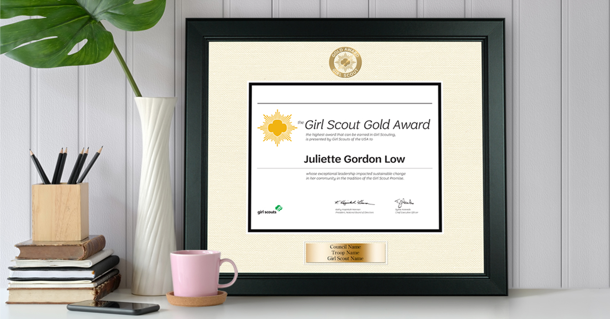 Church Hill Classics® Creates Officially Licensed Girl Scout Gold Award Certificate and Autograph Photo Frames