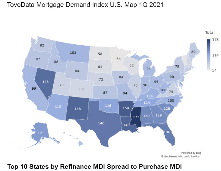 TovoData Releases Mortgage Demand Index for Q1 2021