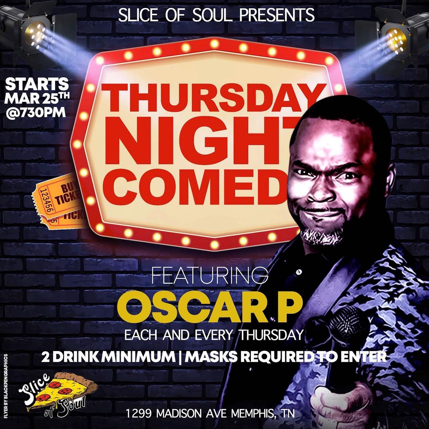 Comedian Oscar P Serves Up Live Performance in Memphis Every Thursday Night