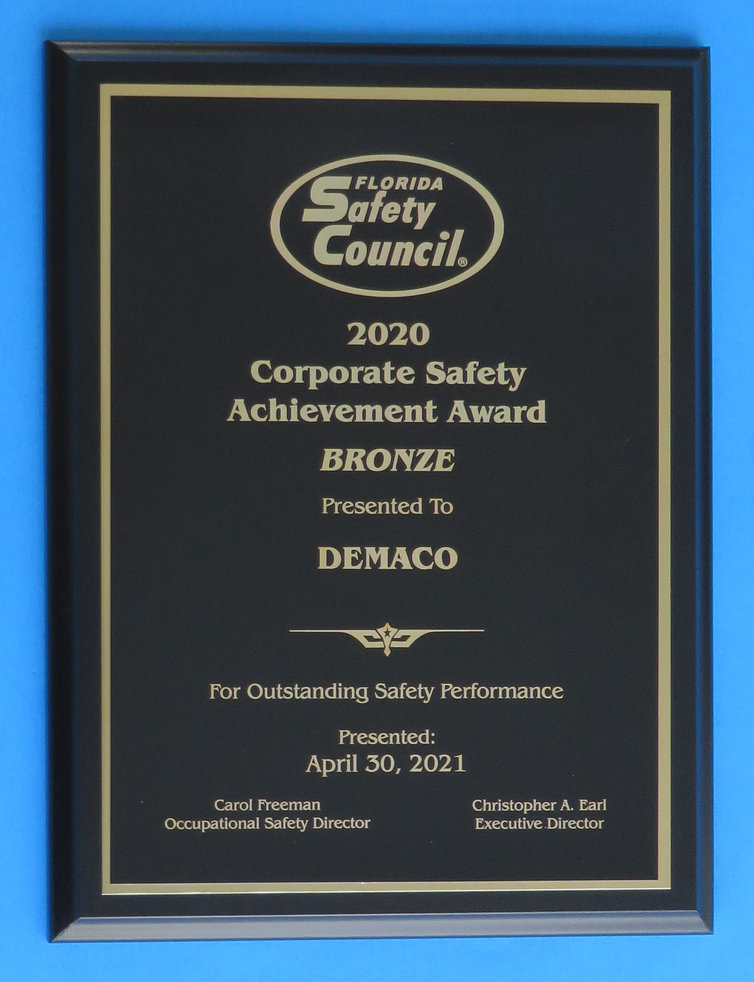 Florida Safety Council Recognized DEMACO for Safety While Building High-Capacity Pasta Machines