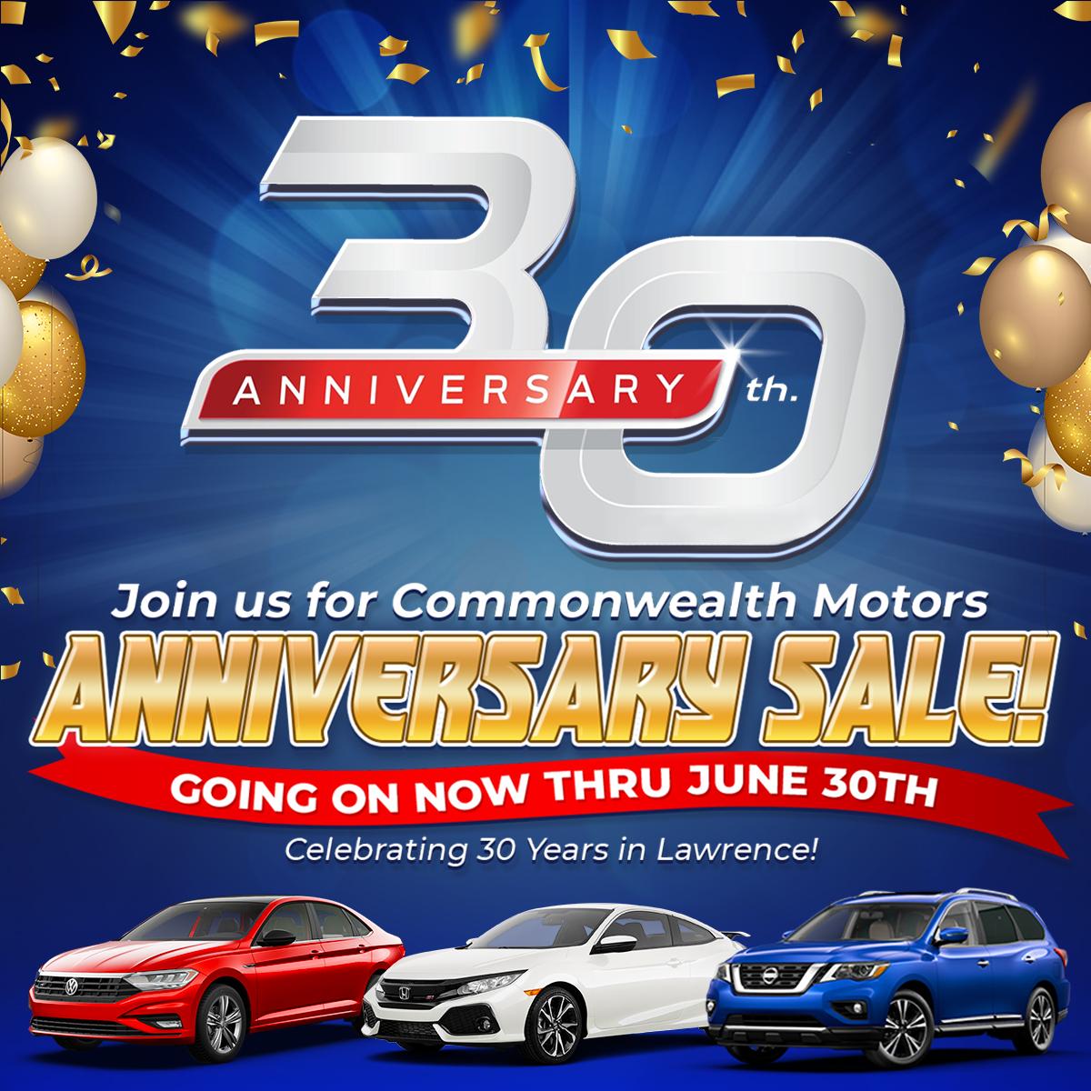 Commonwealth Motors 30th Anniversary