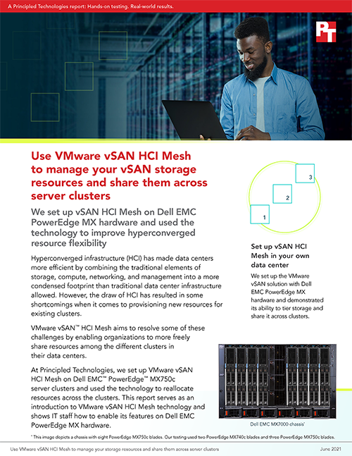 New Guide from Principled Technologies Demonstrates How to Use VMware vSAN HCI Mesh to Share Storage Resources Across Clusters