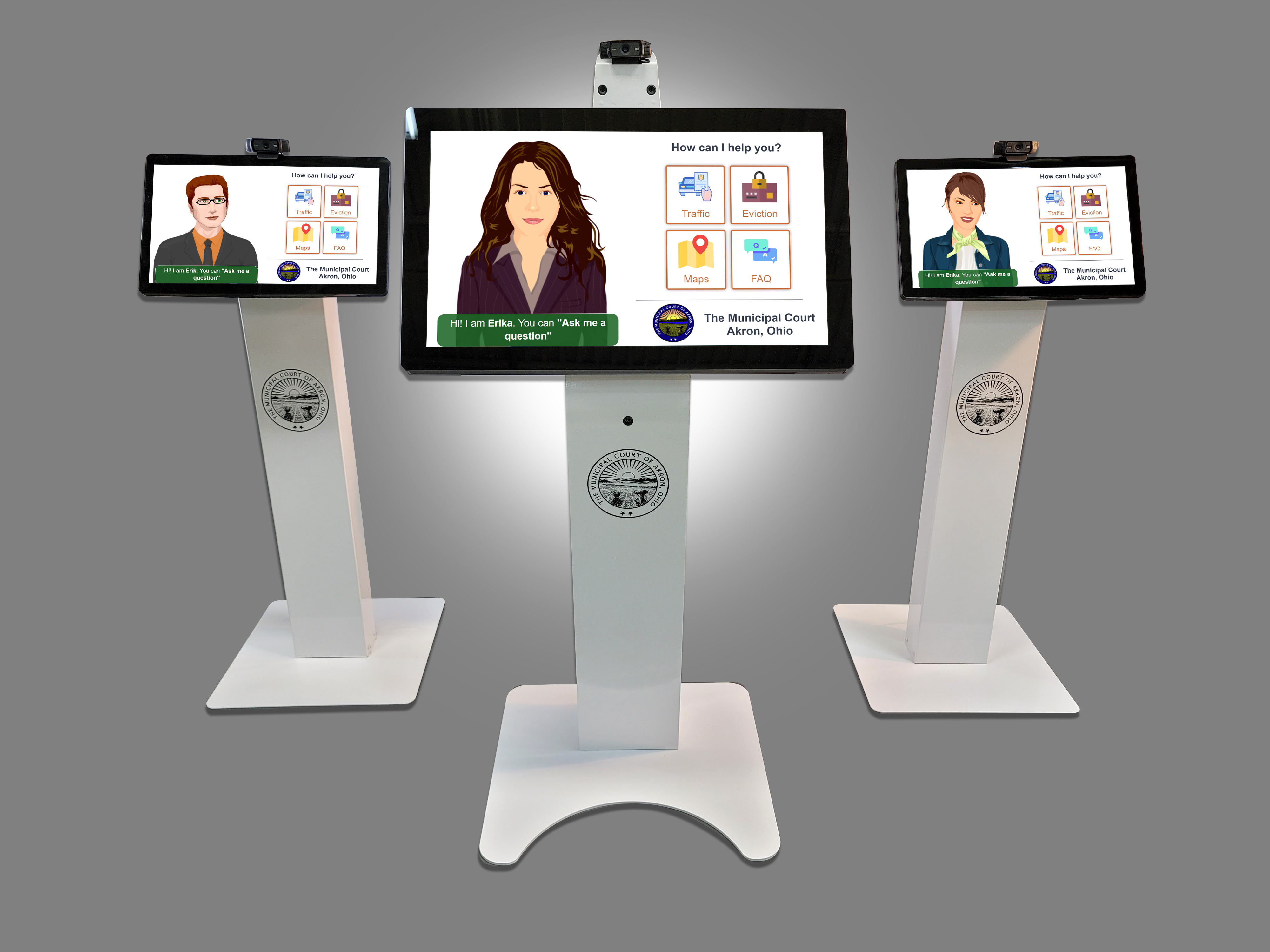 Self-Service Avatar Kiosks for Government Facilities
