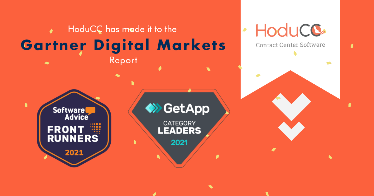 HoduCC Has Made It to the Gartner's Category Leaders & Frontrunners List - May 2021