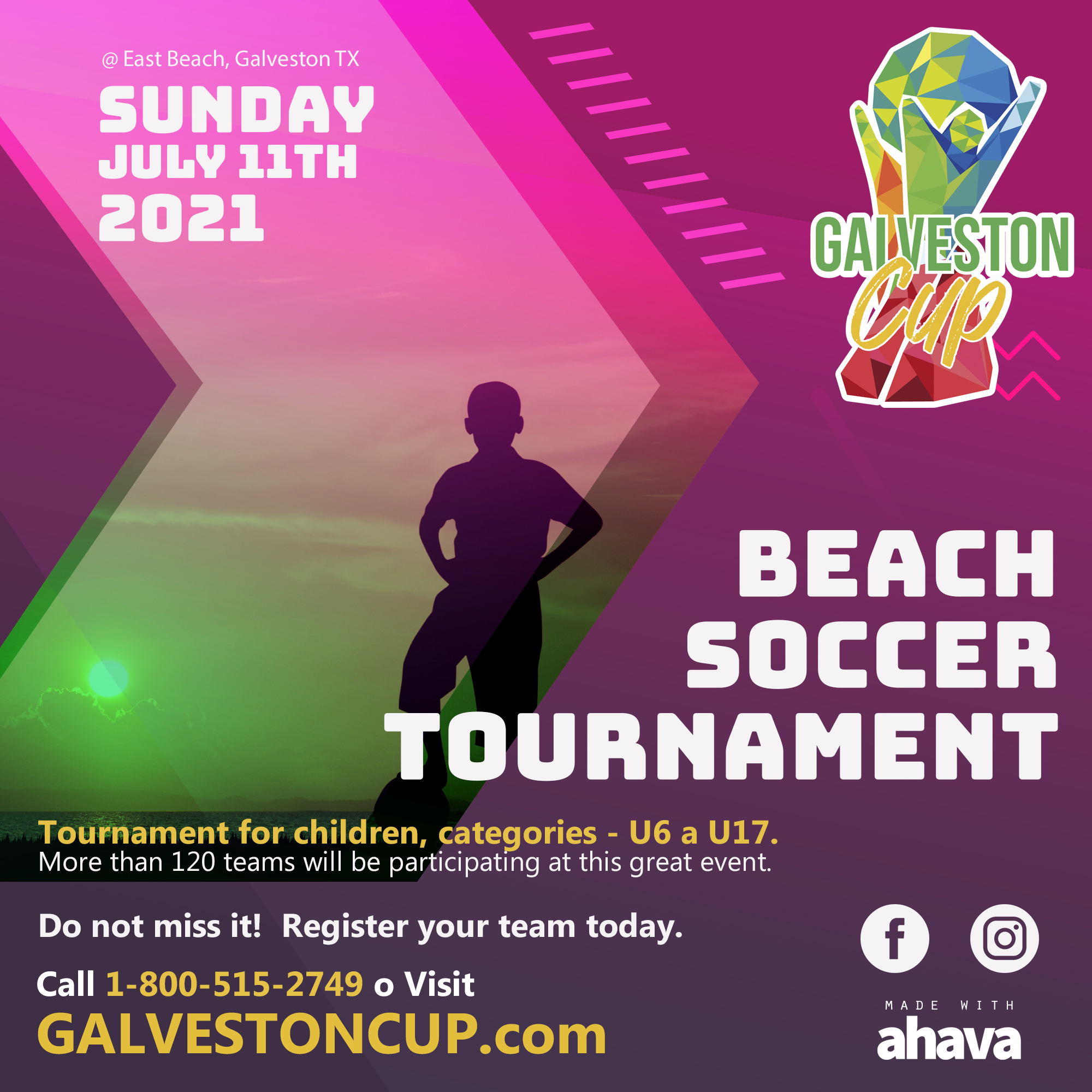 The Best Beach Soccer Tournament Arrives to the City of Galveston, Texas