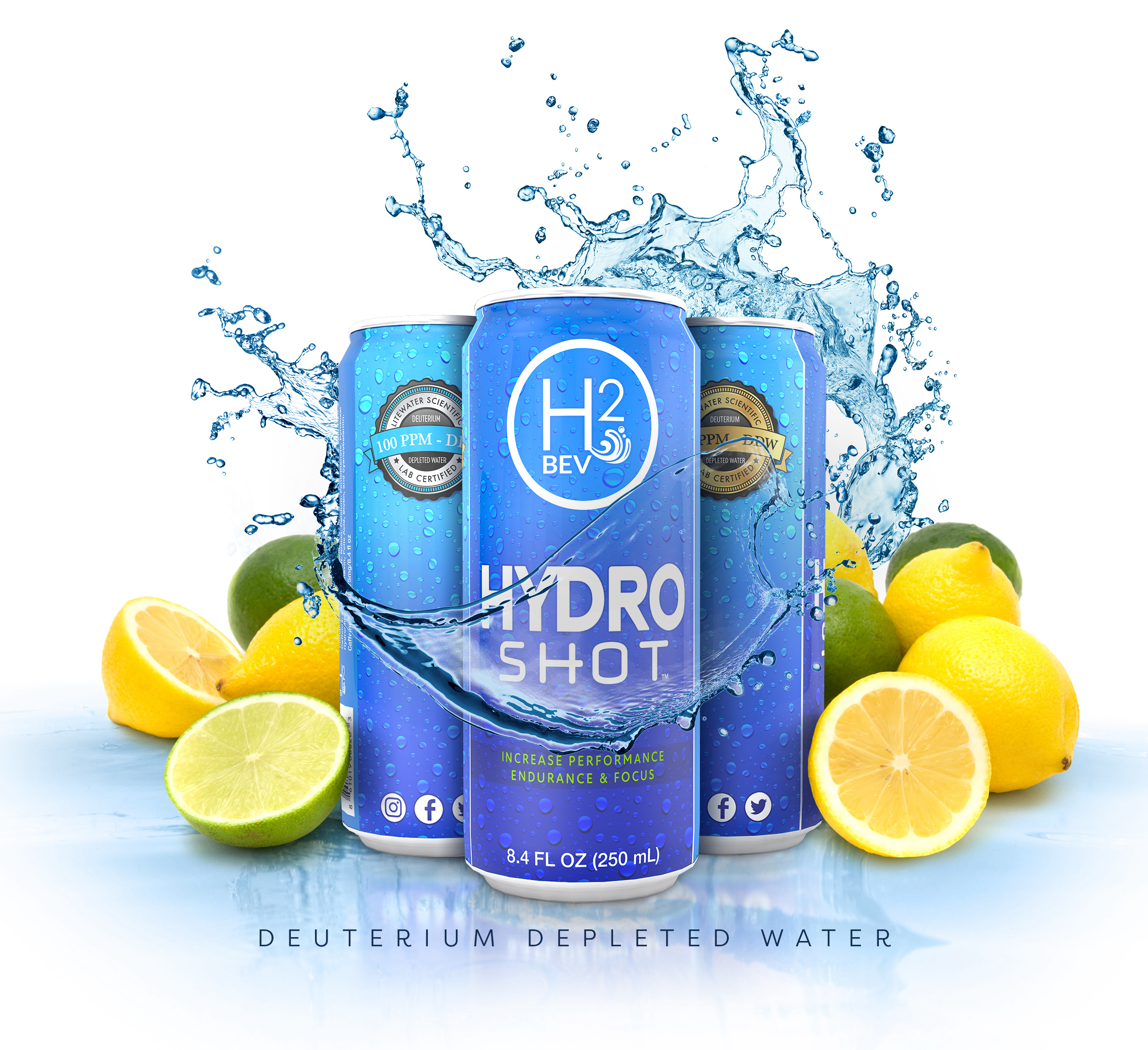 The World's First Hydrogen Infused Functional Energy Drink Made with 100 PPM Deuterium Depleted Water