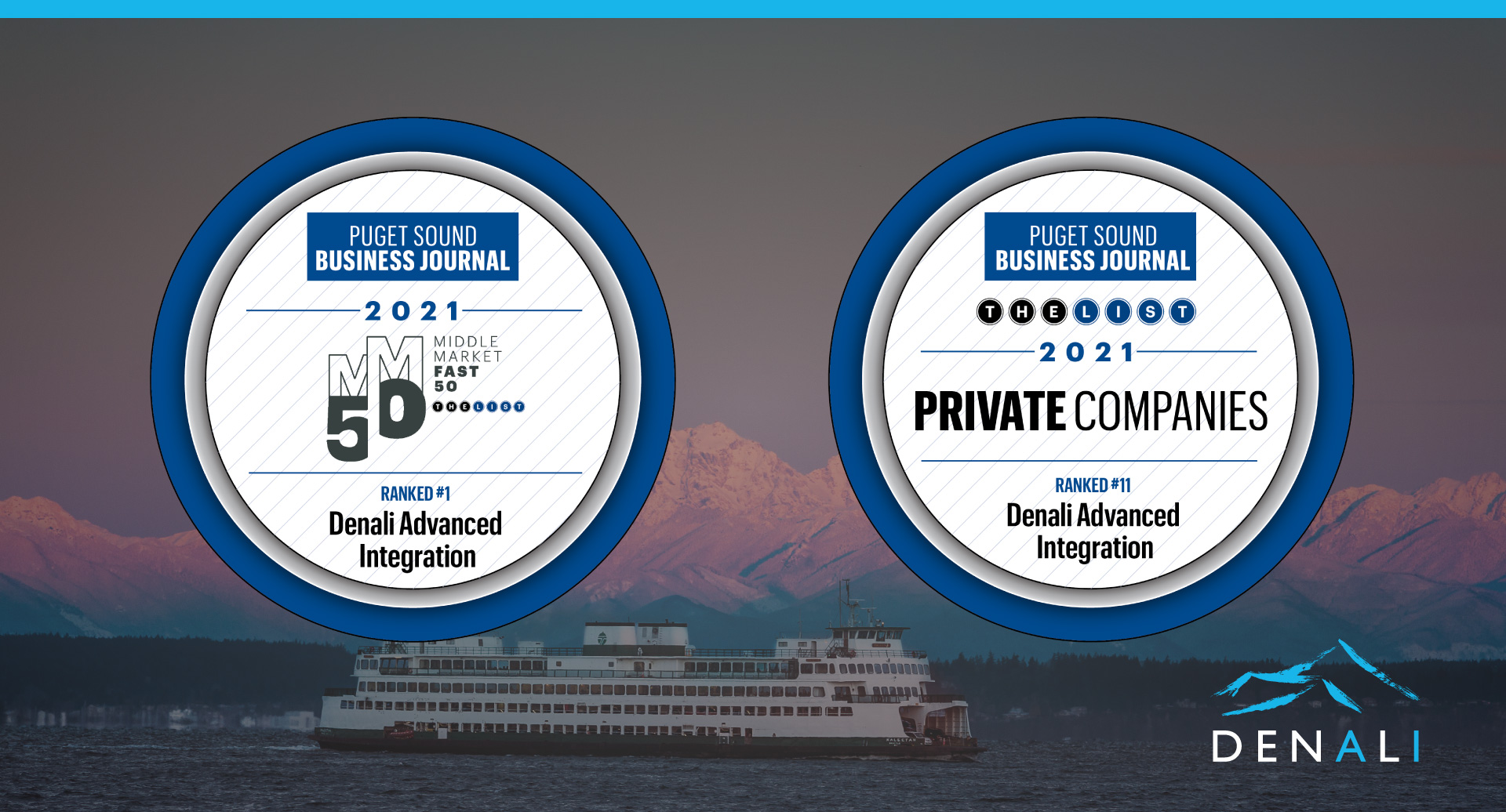 Denali Advanced Integration Ranks #1 on Middle Market Fast 50, #11 on Largest Private Companies List