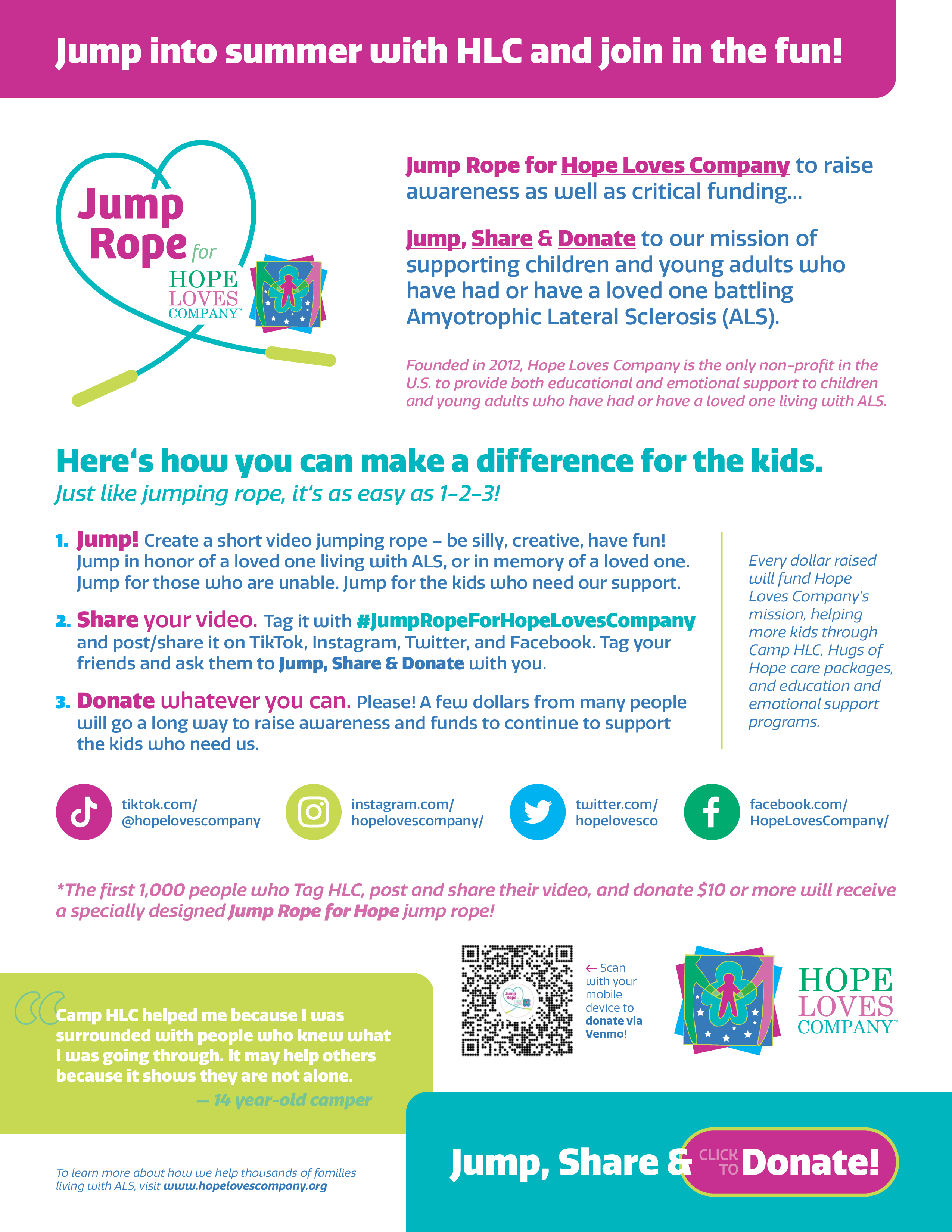 Jump Rope for Hope Loves Company