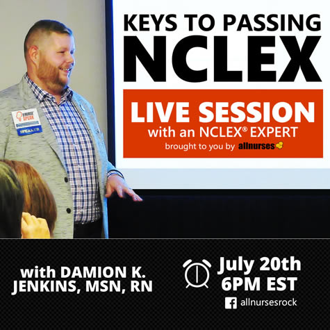 """allnurses.com Announces First Ever Live Learning Event """"The Keys to Passing NCLEX"""" Webinar Event, July 20, 2021 at 6 PM EST"""