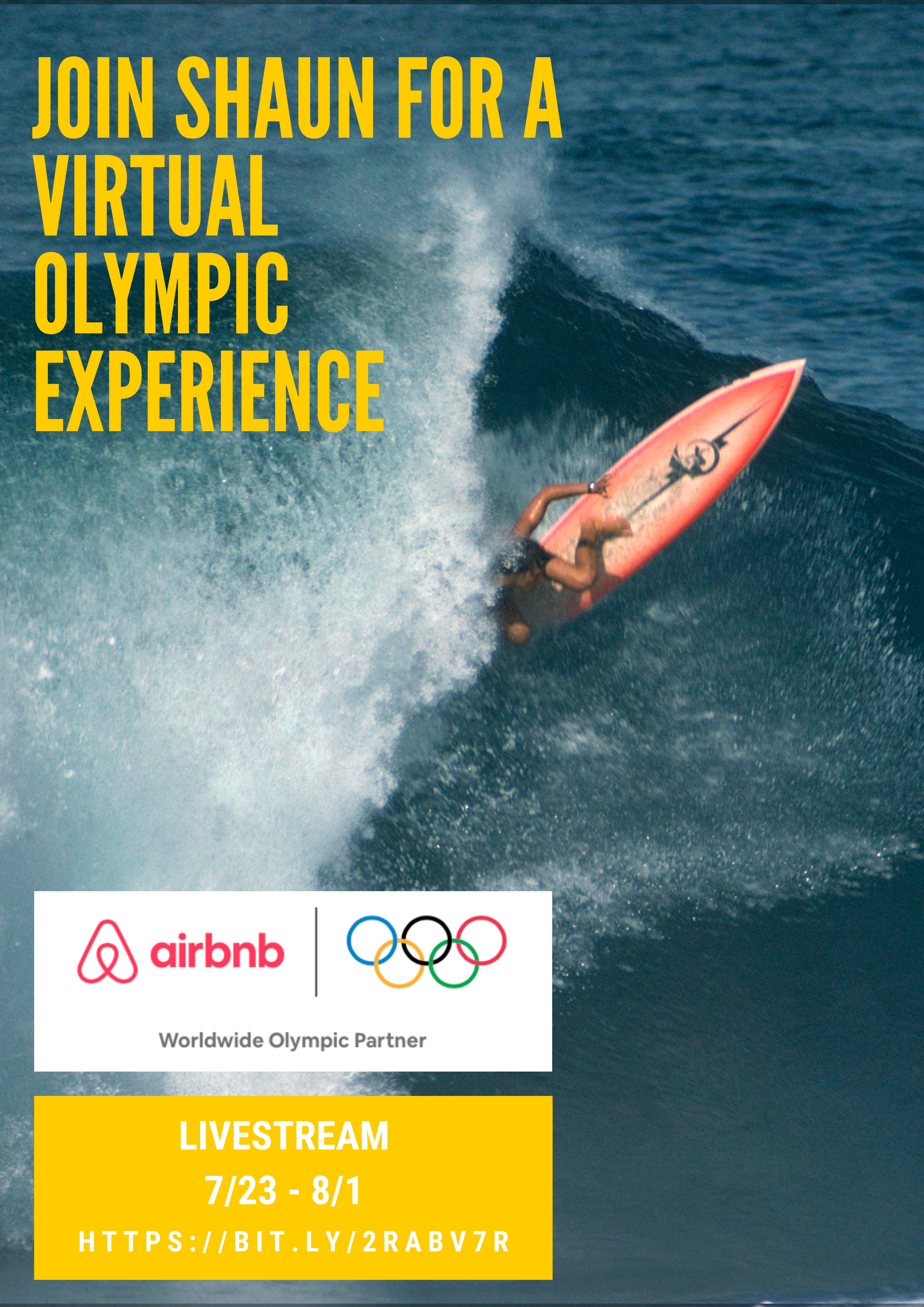 World Champion Surfer Shaun Tomson Teams Up with Airbnb to Offer Exclusive Olympic Perspective