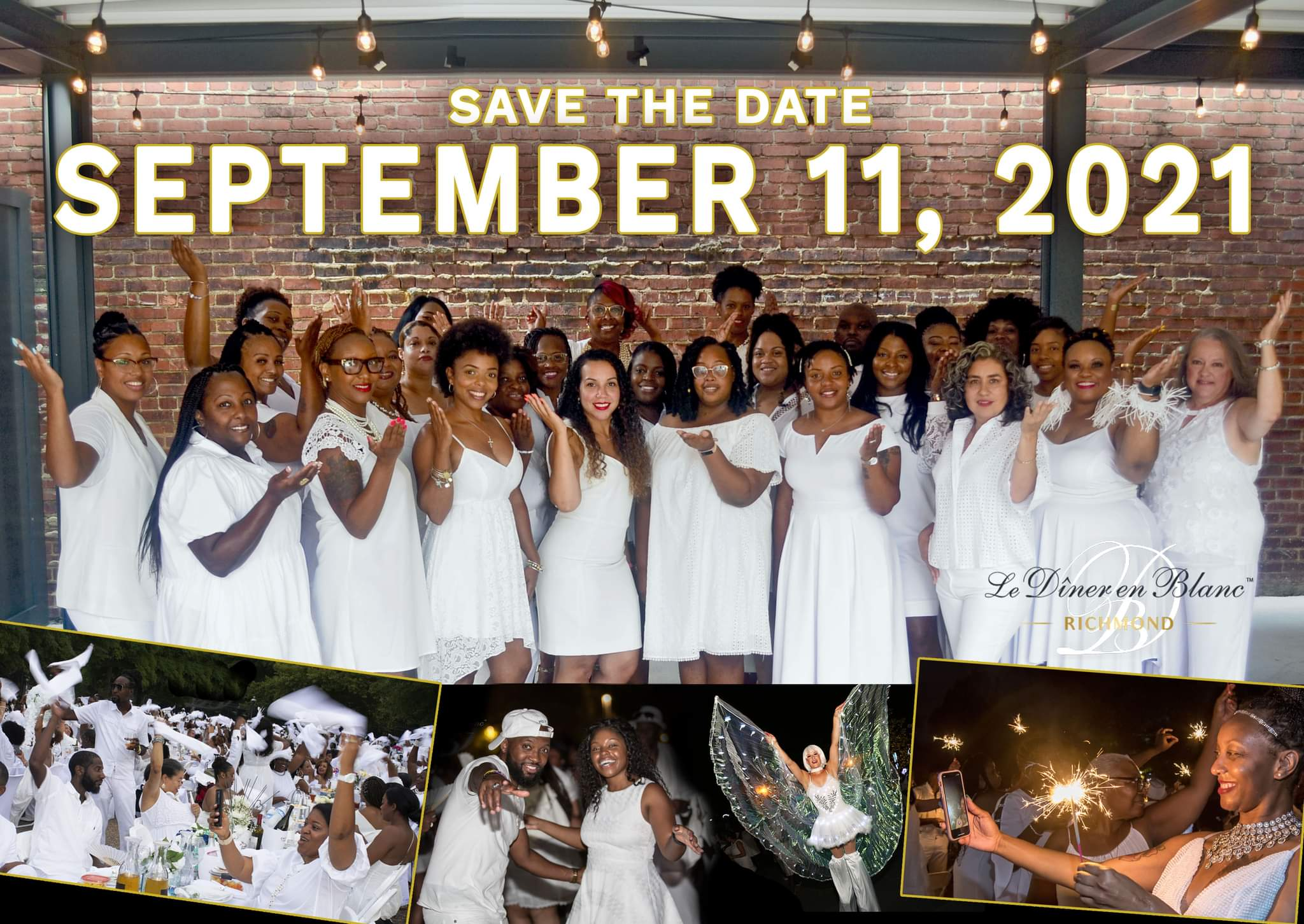 Le Diner en Blanc - Richmond Returns for Its 4th Edition on September 11, 2021