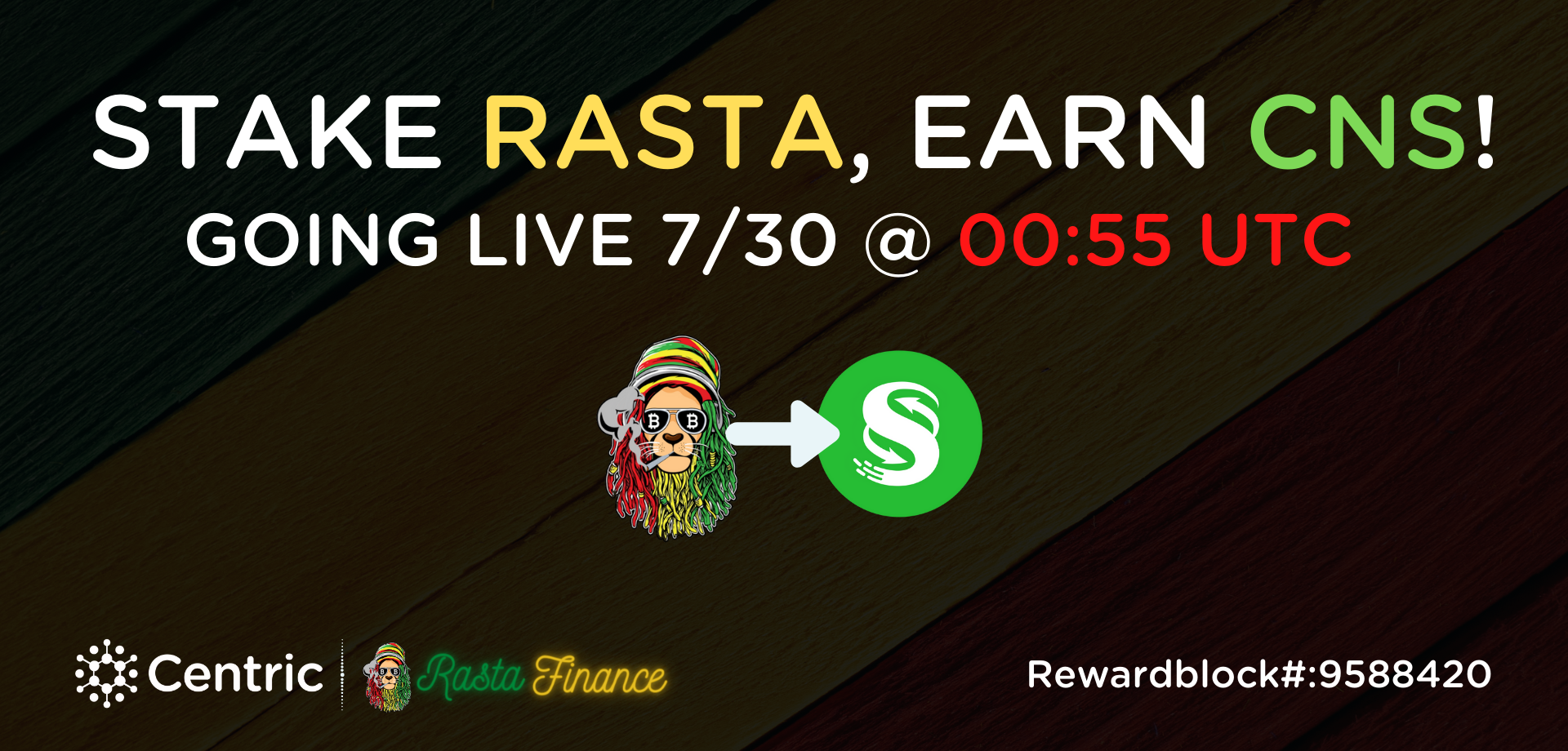 Centric Foundation & RastaFinance Partnership Live - Now Includes Staking to Earn CNS