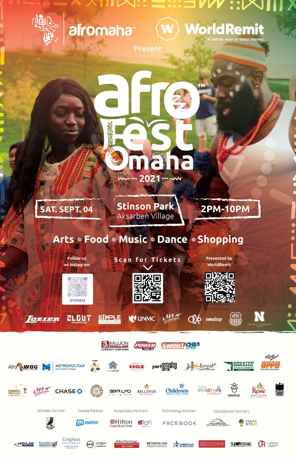 Afromaha and WorldRemit Present Afro Fest Omaha
