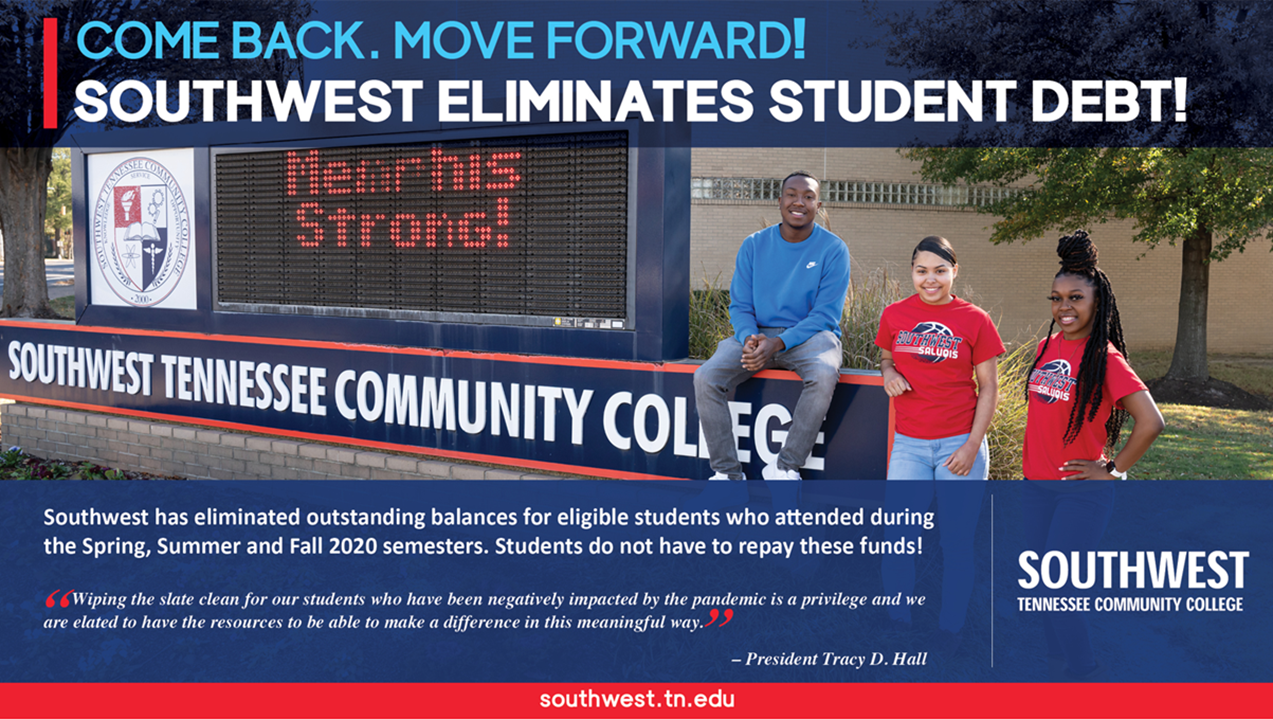 Southwest Tennessee Community College Eliminates $1.8 Million in Debt for Hundreds of Students Hit Hard by the Pandemic