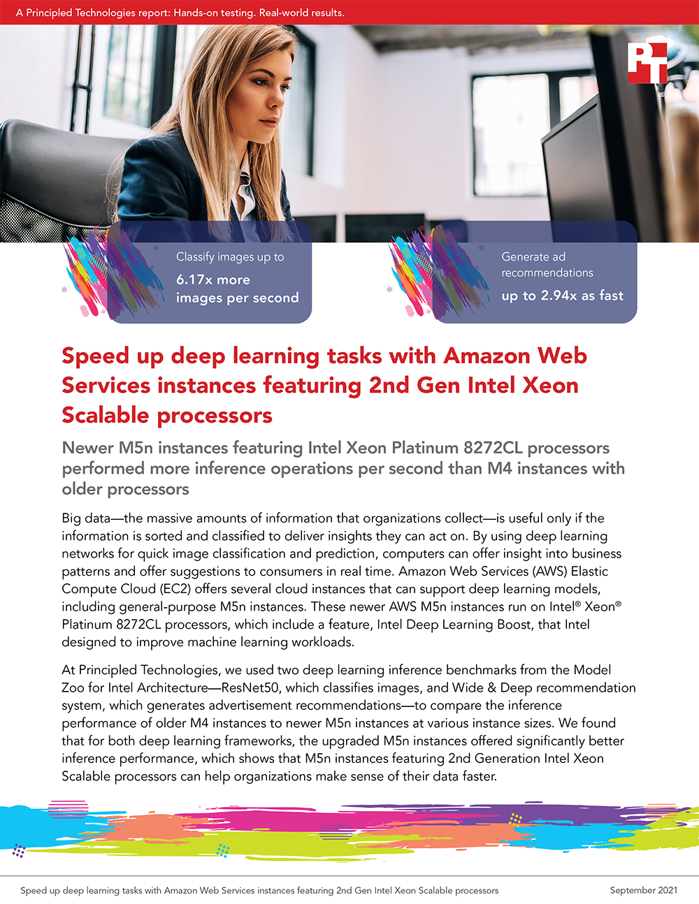 Principled Technologies Releases Study on Amazon Web Services M5n Instances Powered by 2nd Gen Intel Xeon Scalable Processors