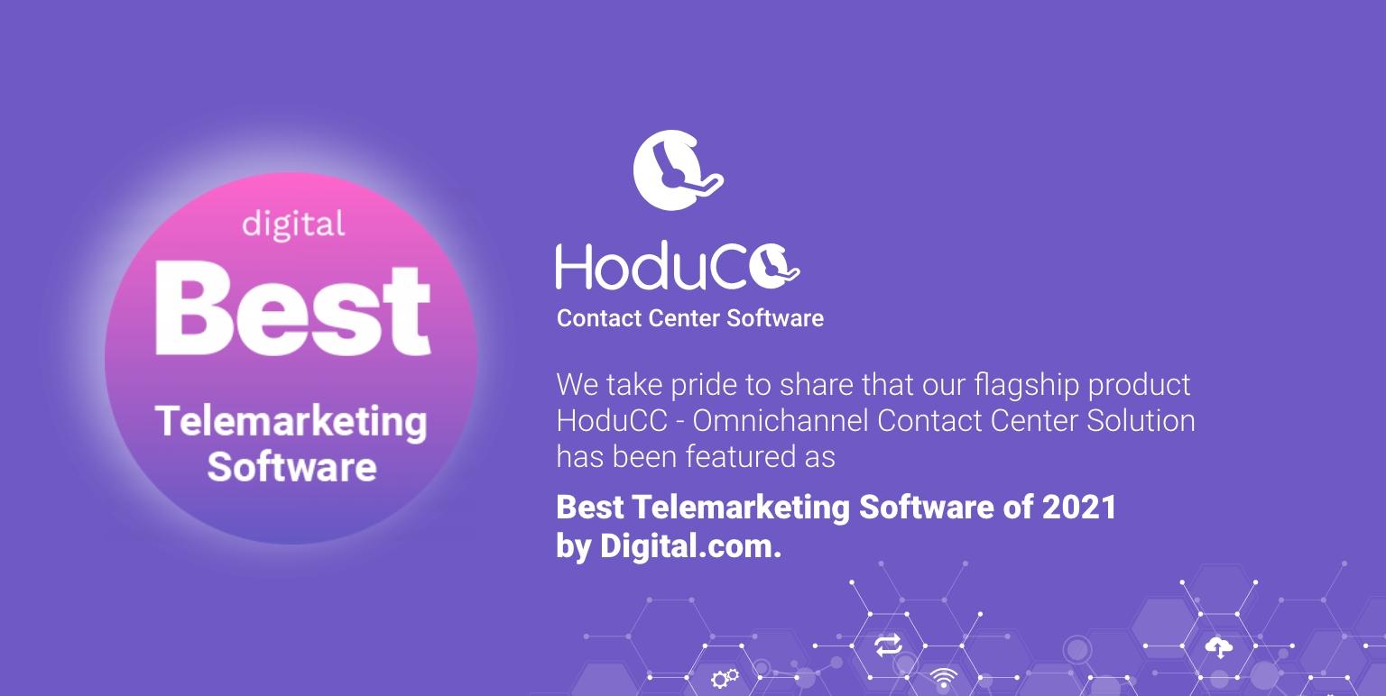 HoduCC Makes Digital.com List for Best Telemarketing Software