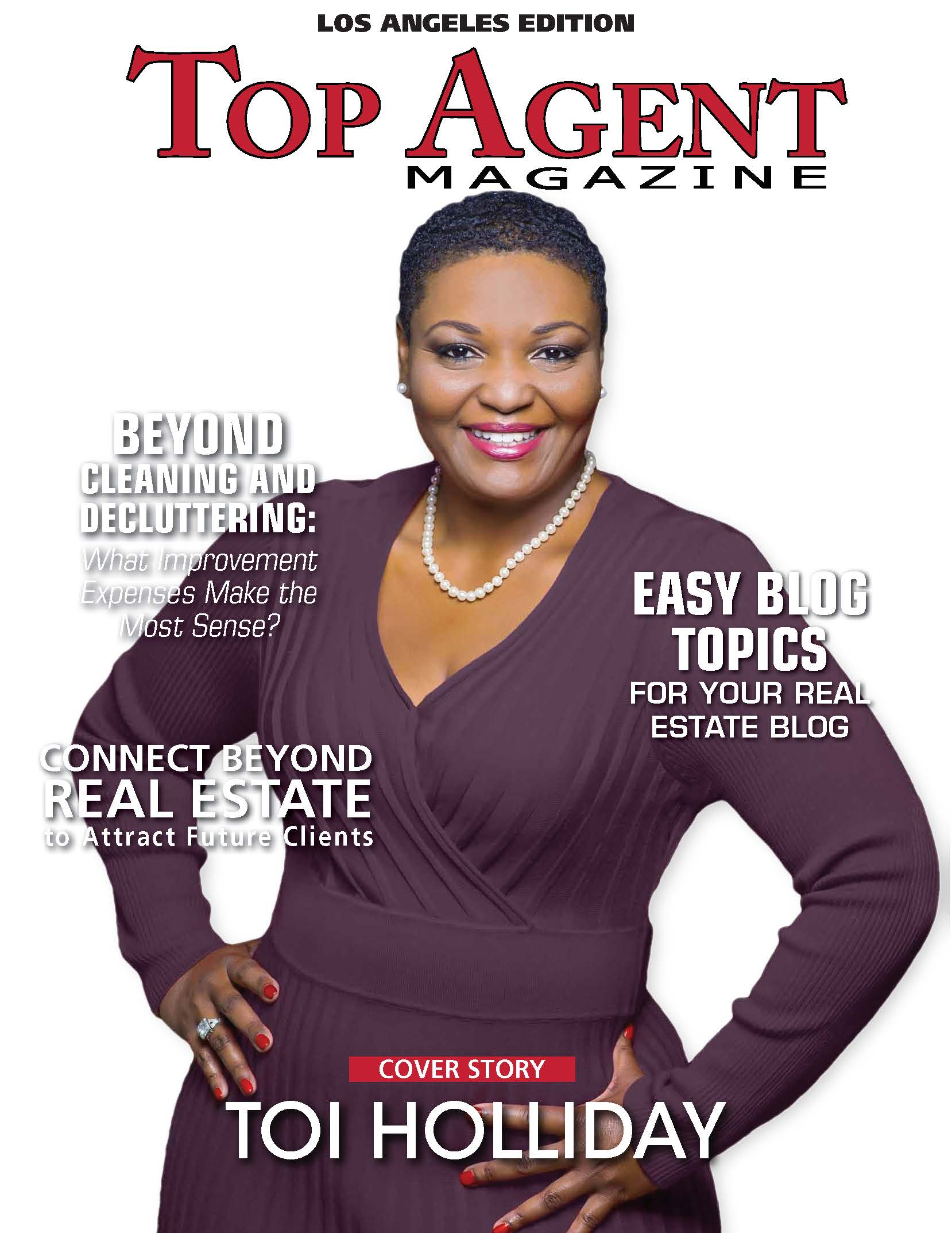 Toi Holliday was Featured in the Los Angeles Edition of Top Agent Magazine