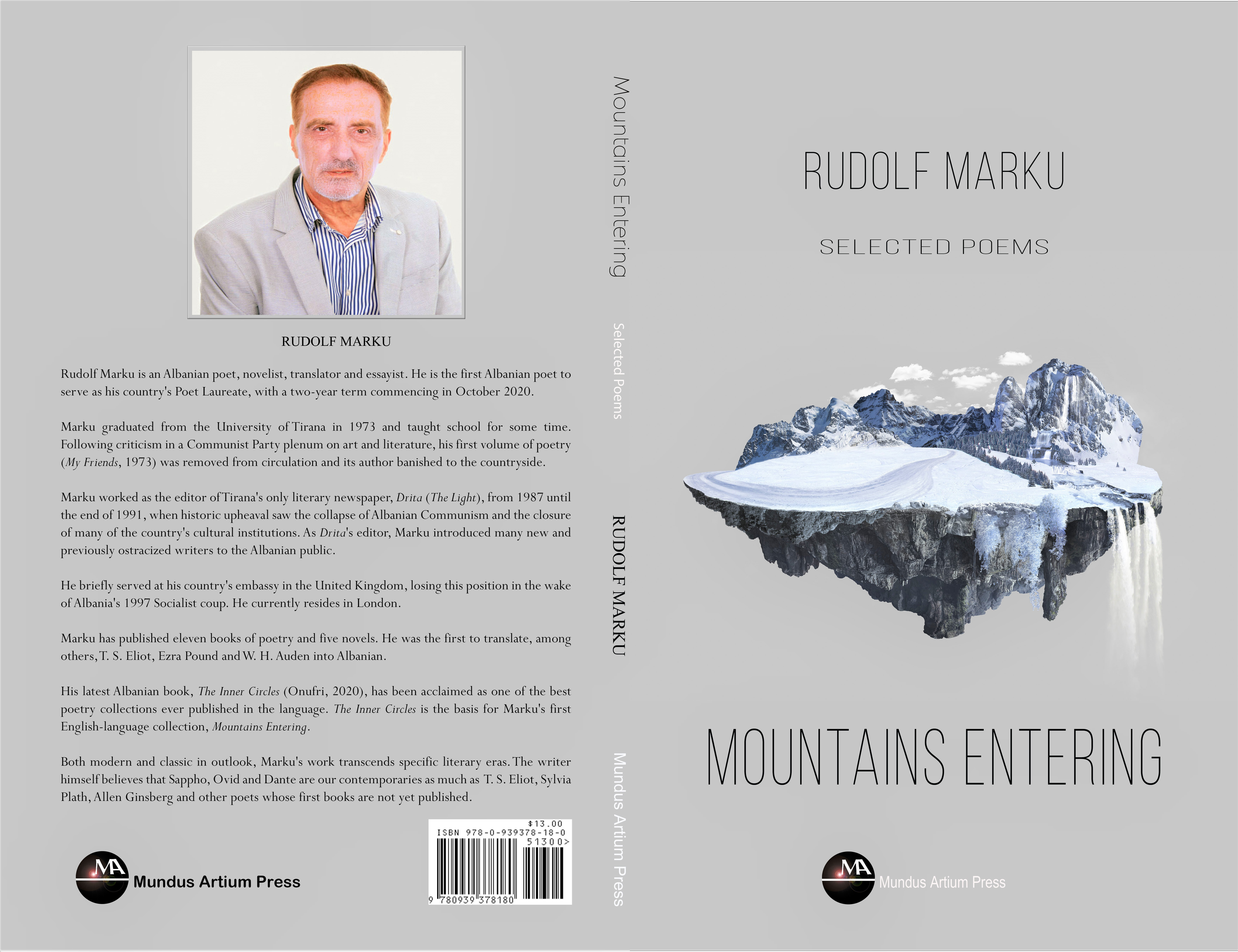 New from Mundus Artium Press: Albanian Laureate Channels Mountains, Seas, Legacies