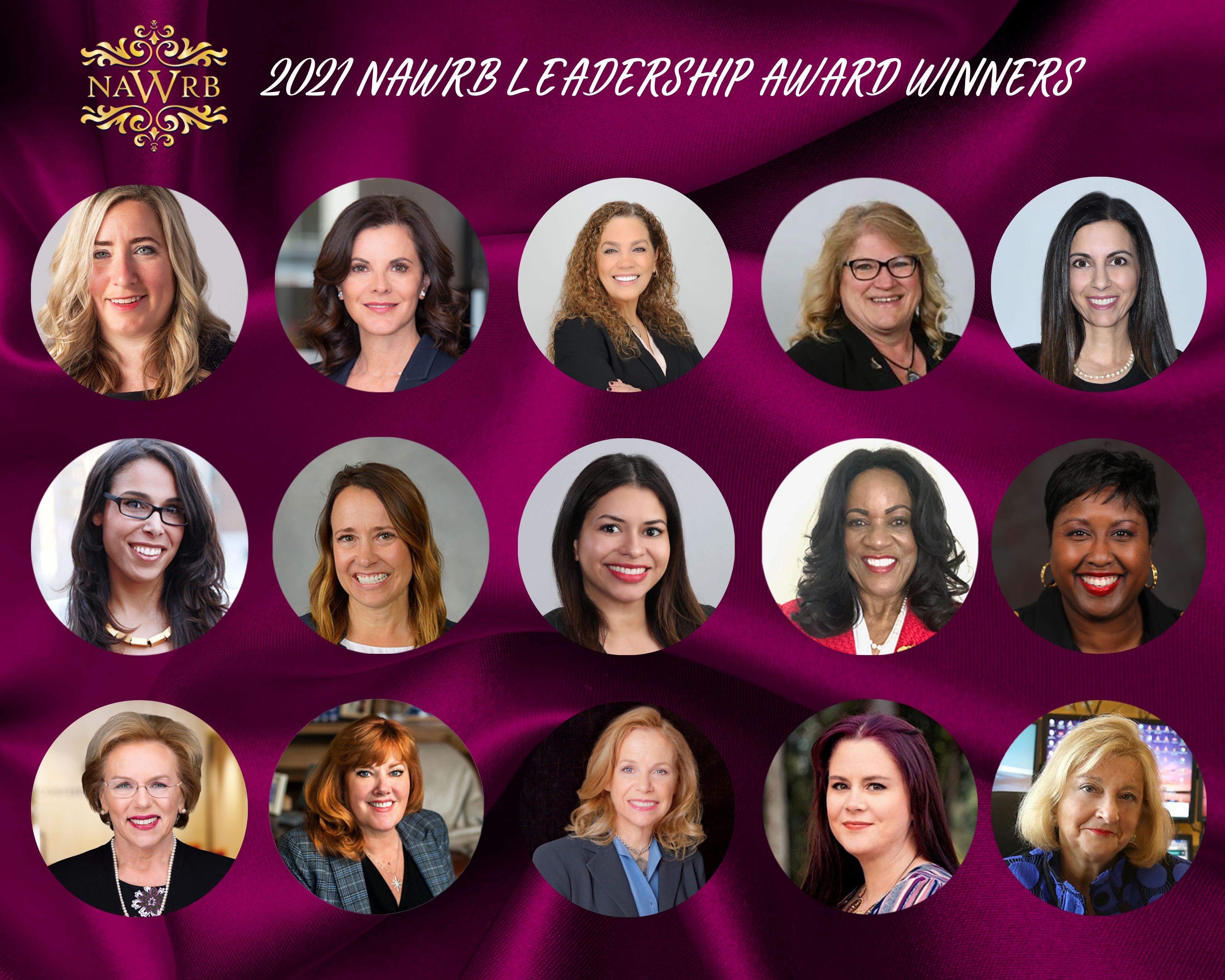 Presenting the 2021 NAWRB Leadership Award Winners